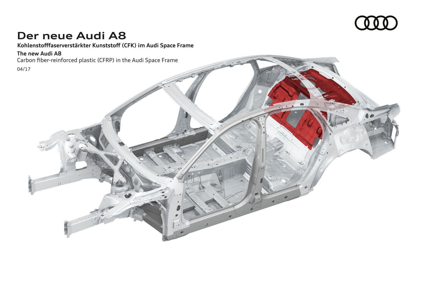 Carbon fiber-reinforced plastic (CFRP) in the Audi Space Frame