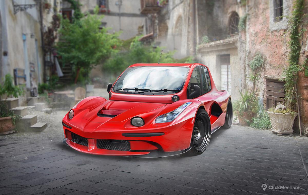 Ferrari+Laferrari_Fiat+Multipla