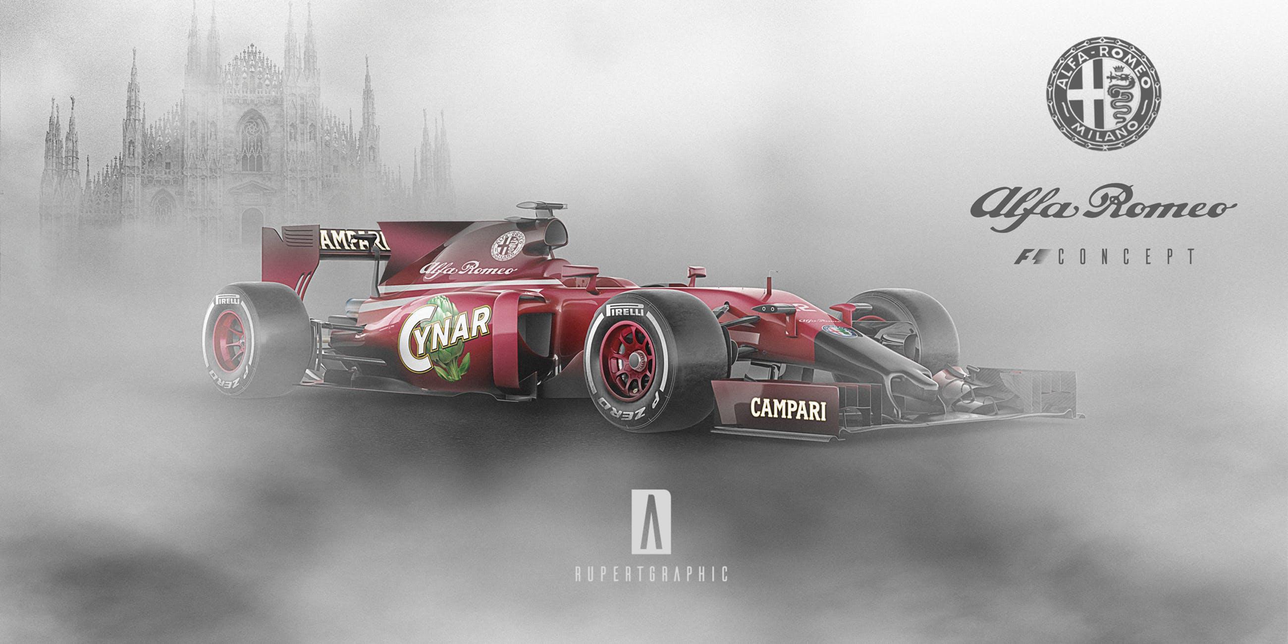 Alfa Romeo F1 renderings (1)