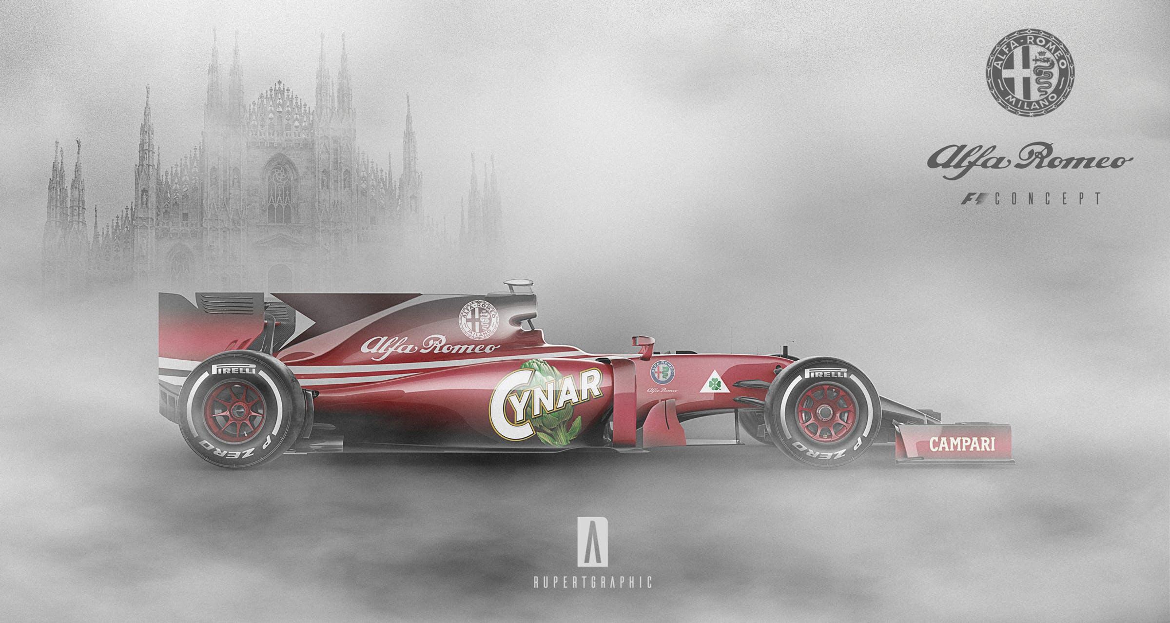 Alfa Romeo F1 renderings (2)