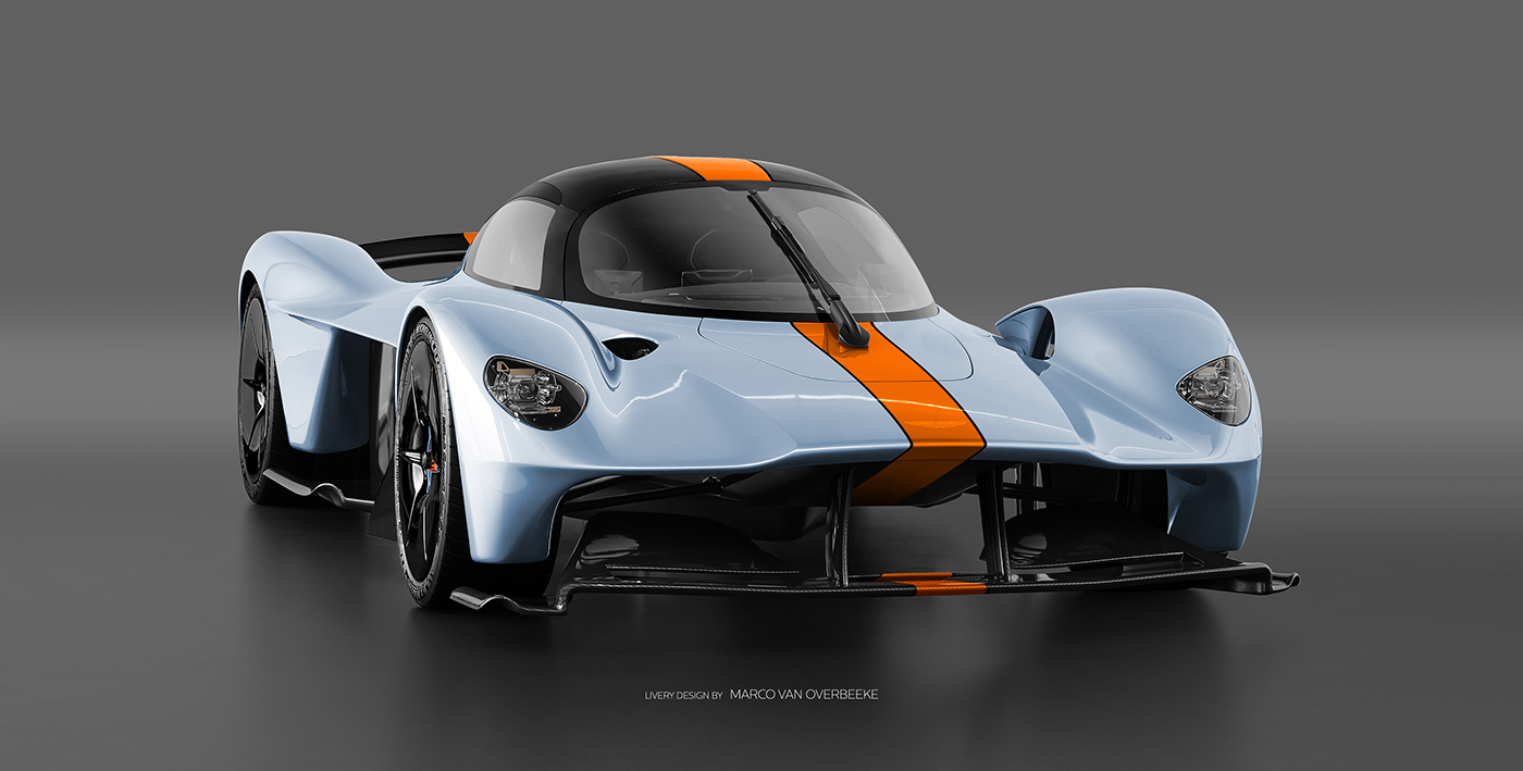Aston Martin Valkyrie Livery Volante and AMR concepts (1)