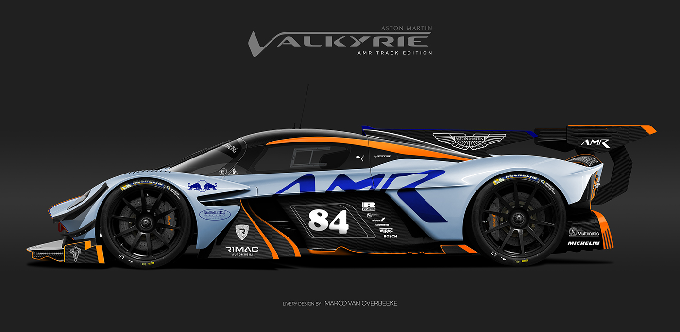 Aston Martin Valkyrie Livery Volante and AMR concepts (4)