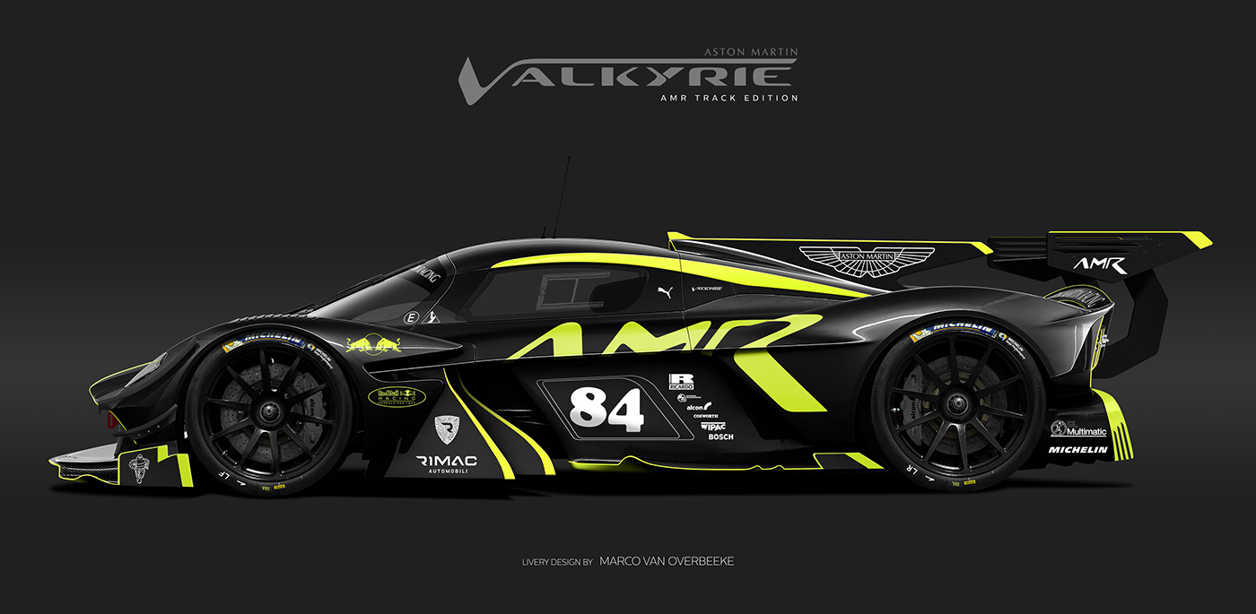 Aston Martin Valkyrie Livery Volante and AMR concepts (63)