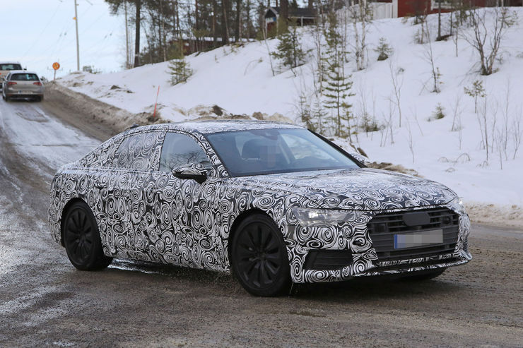 Audi A6 2018 Spy photos (1)