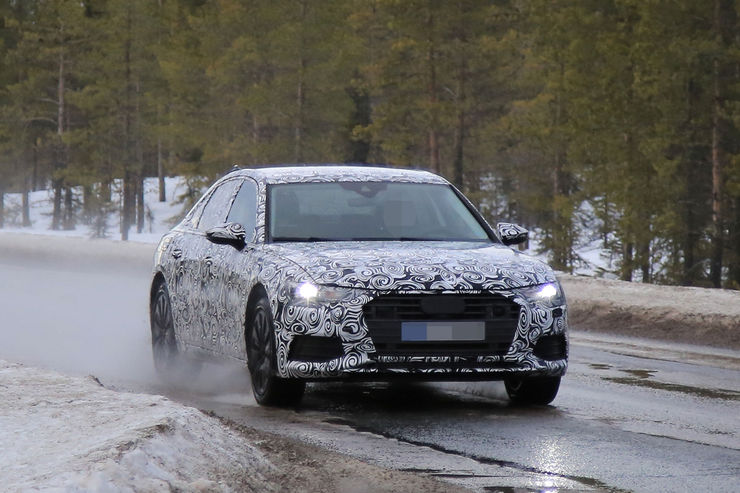 Audi A6 2018 Spy photos (13)