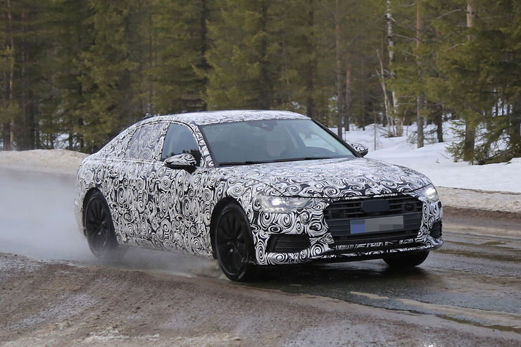 Audi A6 2018 Spy photos (14)