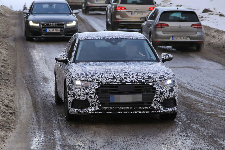 Audi A6 2018 Spy photos (2)