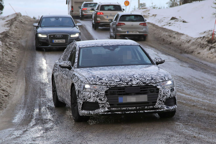Audi A6 2018 Spy photos (3)