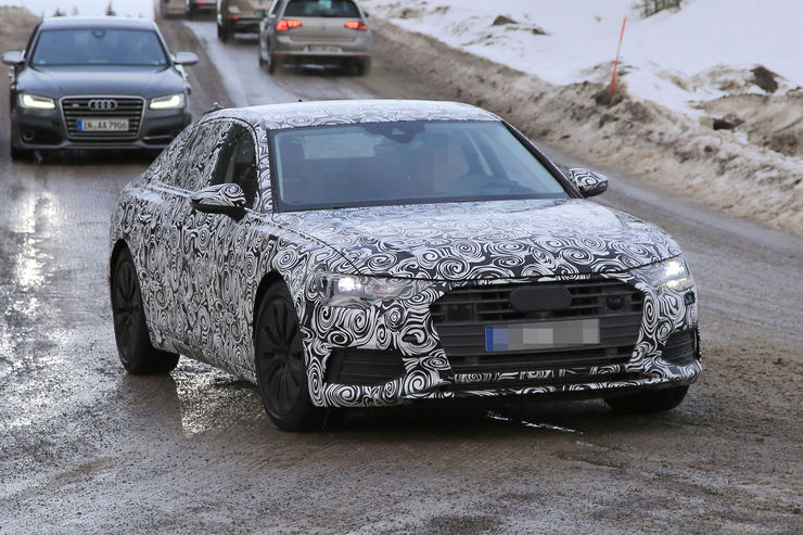 Audi A6 2018 Spy photos (4)