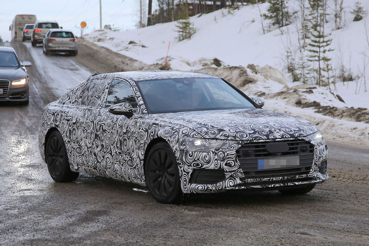 Audi A6 2018 Spy photos (5)