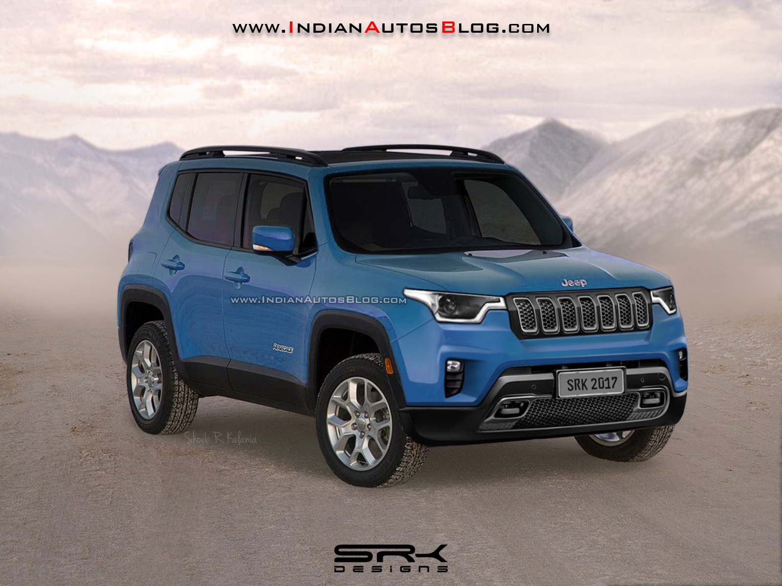 2018-Jeep-Renegade-facelift-front-three-quarters-rendering