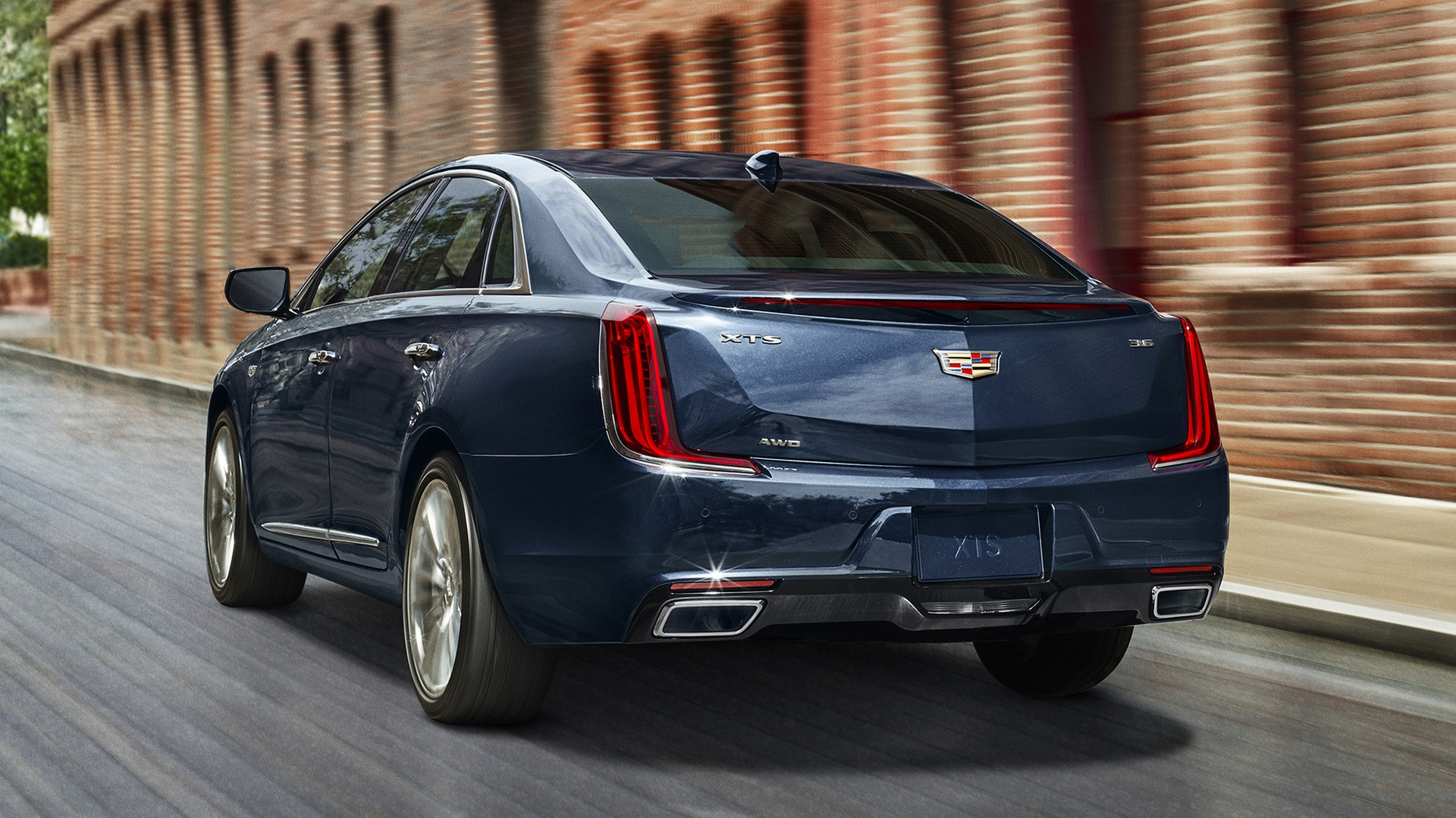 The 2018 Cadillac XTS luxury sedan is elevated with the new generation of design and technology. XTS Platinum shown here in Dark Adriatic Blue Metallic.