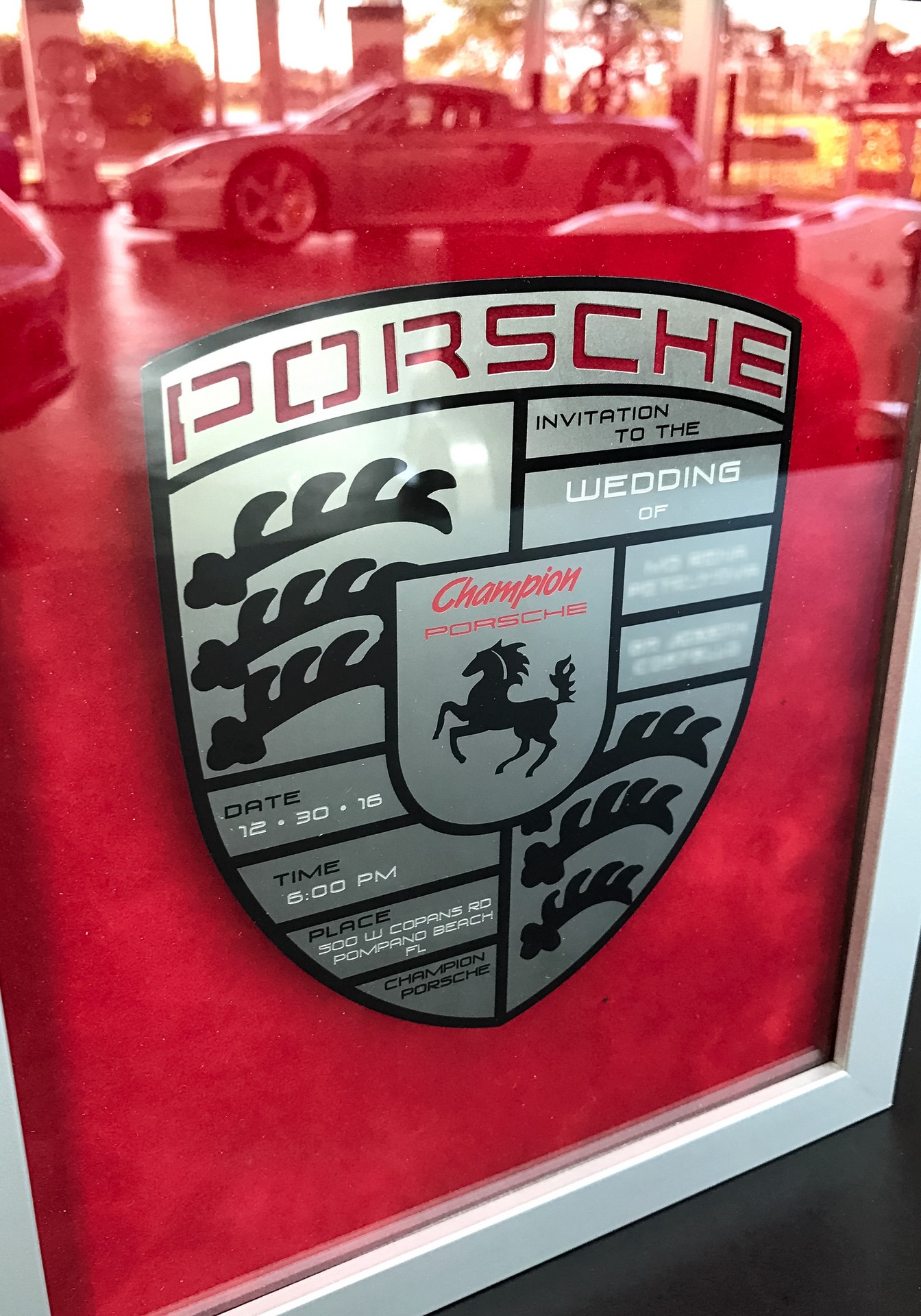 Champion Porsche wedding (16)