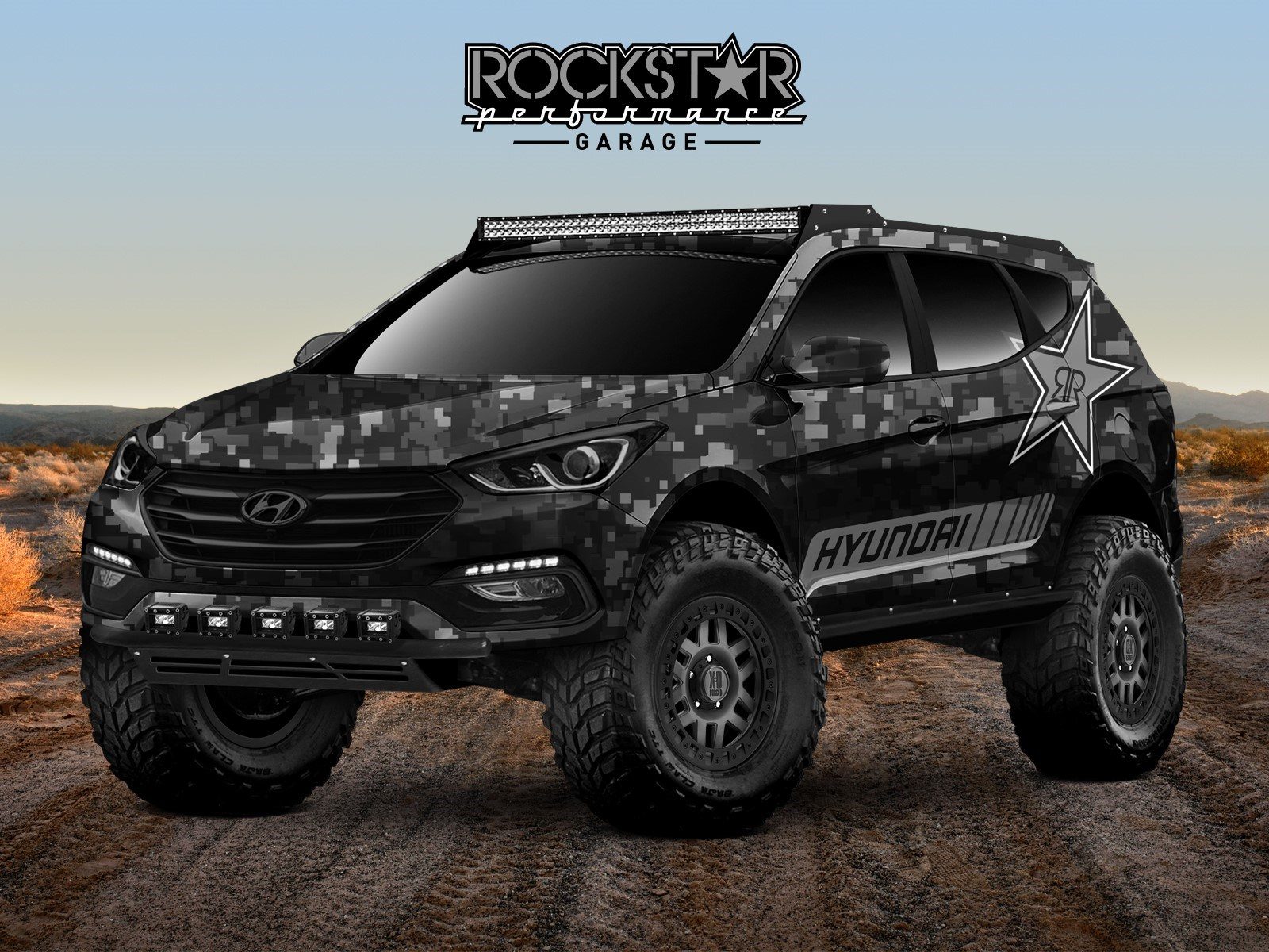 HYUNDAI ENERGIZES THE 2017 SEMA SHOW WITH ROCKSTAR ENERGY MOAB EXTREME OFF-ROADER SANTA FE SPORT CONCEPT
