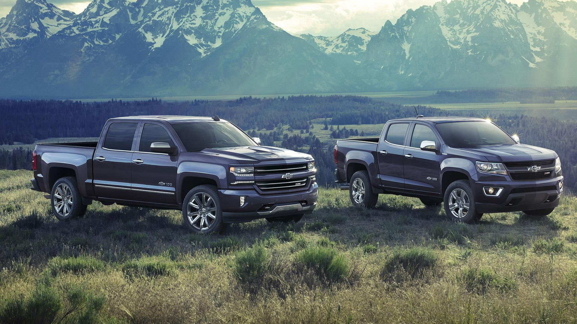 2018 Centennial Edition Silverado and Colorado - To commemorate 100 years of Chevy Trucks, both trucks offer Centennial Blue exterior paint color, exclusive front and rear heritage bowties and 100 year door badges, which were inspired by colors and design cues found on early Chevrolet Trucks. Centennial Editions also include a spray-in bedliner with heritage bowtie emblem and accessory floor liners with heritage bowtie emblems.