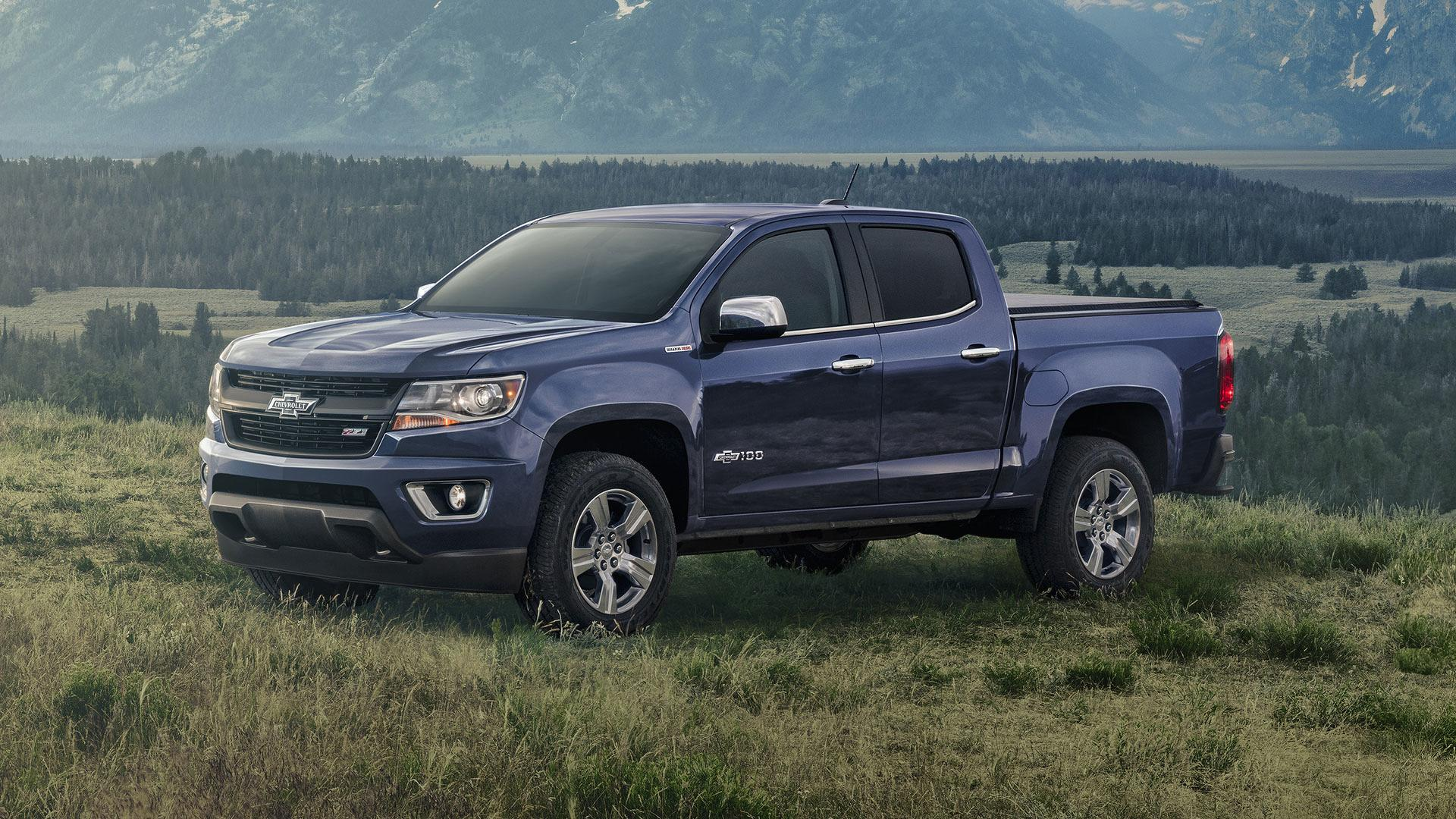 "2018 Centennial Edition Colorado - The Centennial Edition Colorado includes all of the features available on the Z71 crew cab and adds the Centennial Blue exterior paint color, front and rear heritage bowties and 100 year door badges. The Centennial Edition Colorado also includes a body-color rear bumper and accessory grille surround, chrome belt molding, chrome accessory tow hooks, mirror caps and handles, spray-in bedliner with bowtie emblems and LT optional 18"" wheels with monochromatic cap."