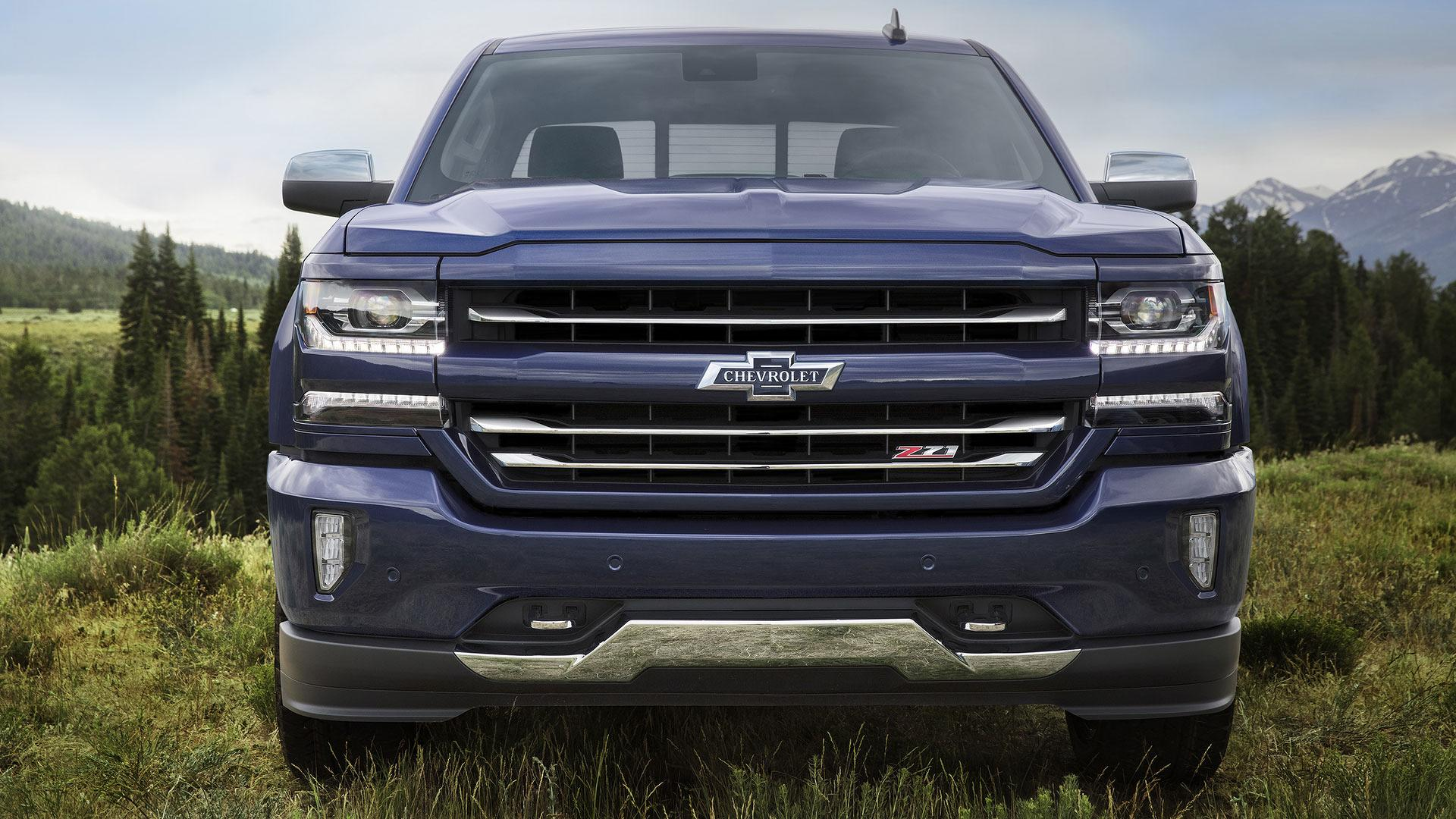 "2018 Centennial Edition Silverado - The Centennial Edition includes all of the features available on the LTZ Z71 crew cab and adds the Centennial Blue exterior paint color, front and rear heritage bowties, 100 year door badges, spray-in bedliner with heritage bowtie emblems and accessory floor liners with heritage bowtie emblems. The Centennial Edition also adds 22"" painted wheels with chrome inserts, 22"" all-terrain tires, chrome tow hooks and a chrome bowtie on the steering wheel."