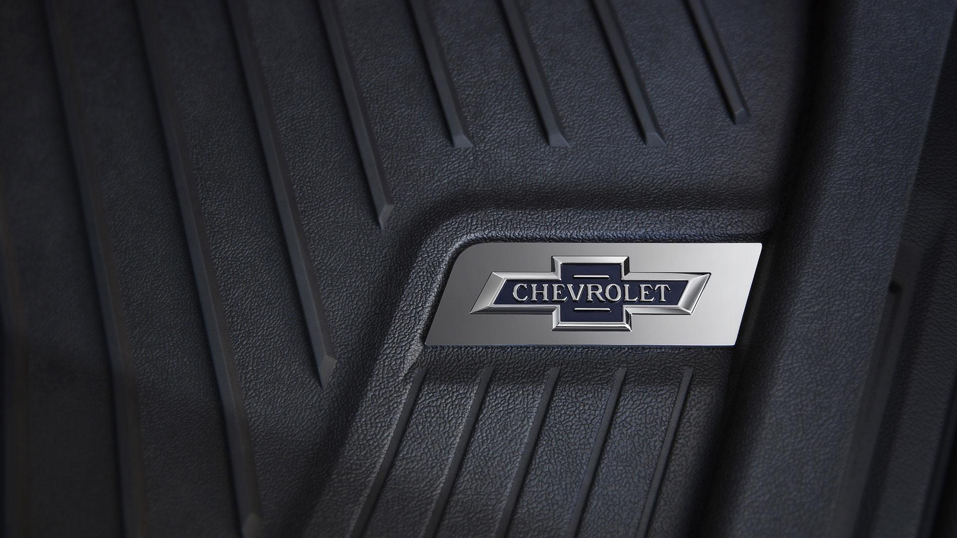 2018 Centennial Edition Silverado include accessory floor liners with heritage bowtie emblems.