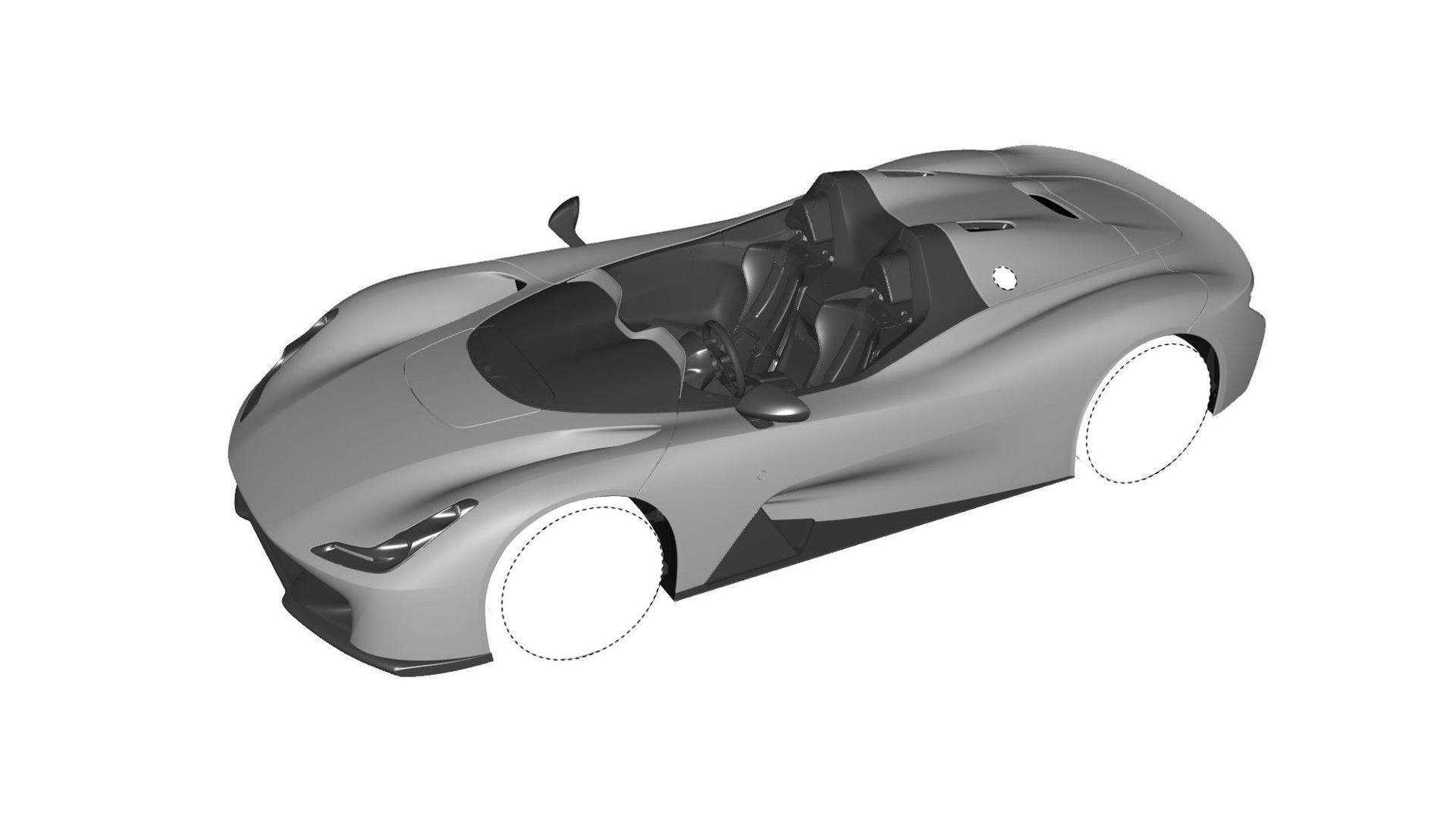 Dallara Stradale Design Sketches (1)