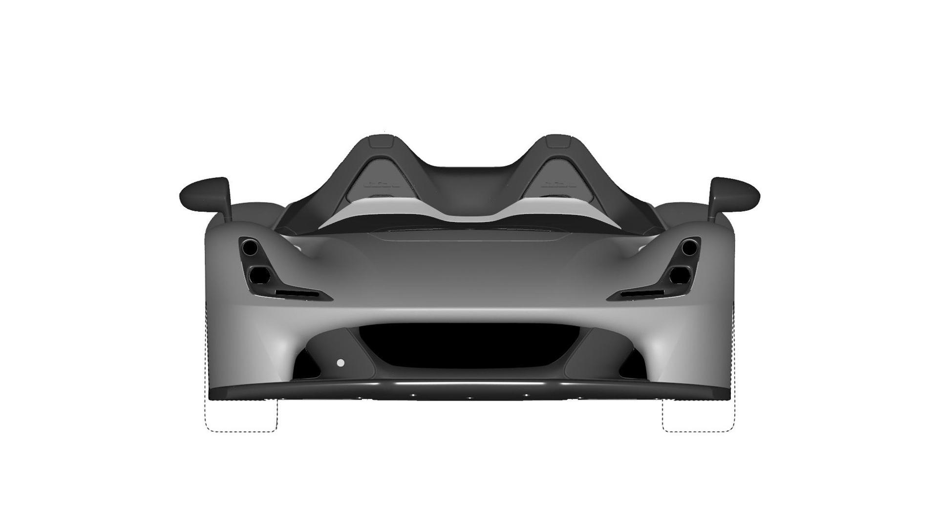 Dallara Stradale Design Sketches (3)
