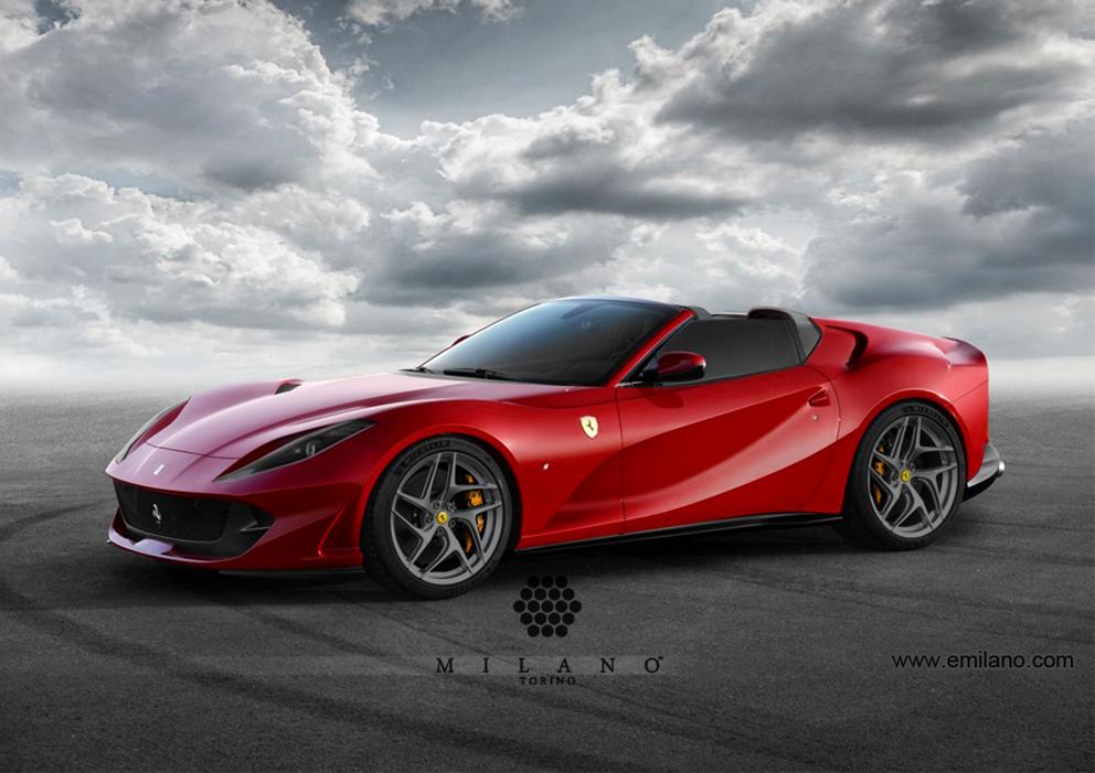Ferrari-812-SuperFast-Aperta-Milano-Front-3qrt-2017
