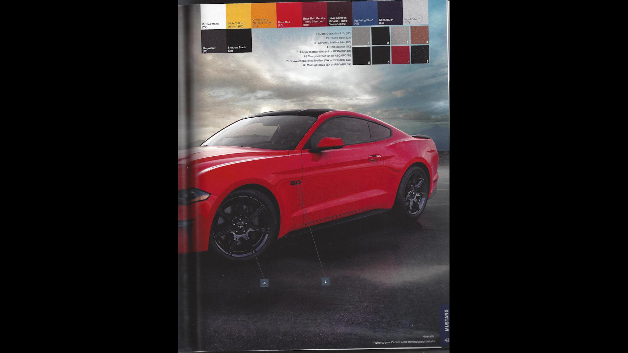 Ford Mustang 2018 Order Guide (5)