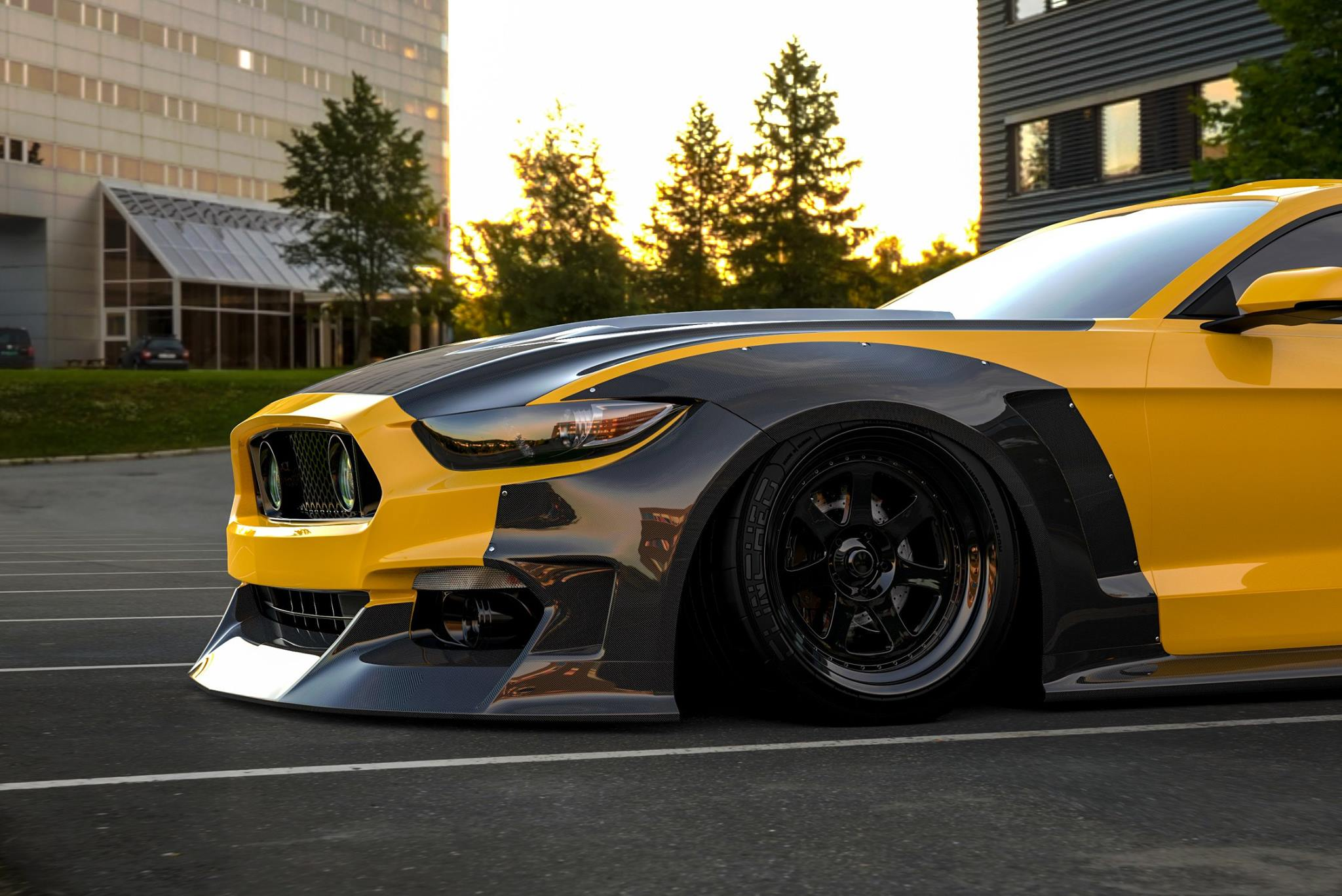 Ford Mustang widebody by Clinched (5)