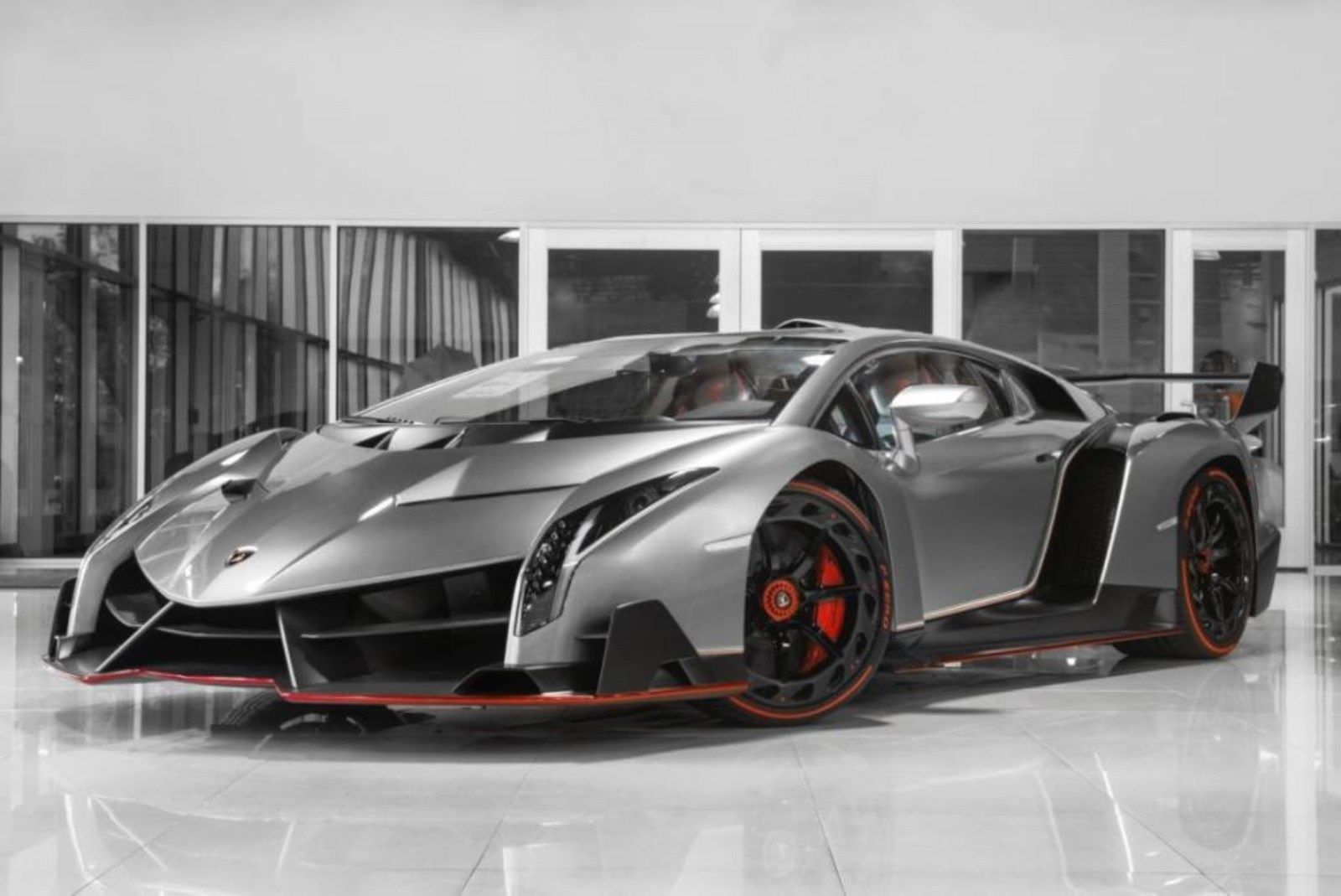 Grey Lamborghini Veneno for sale (1)