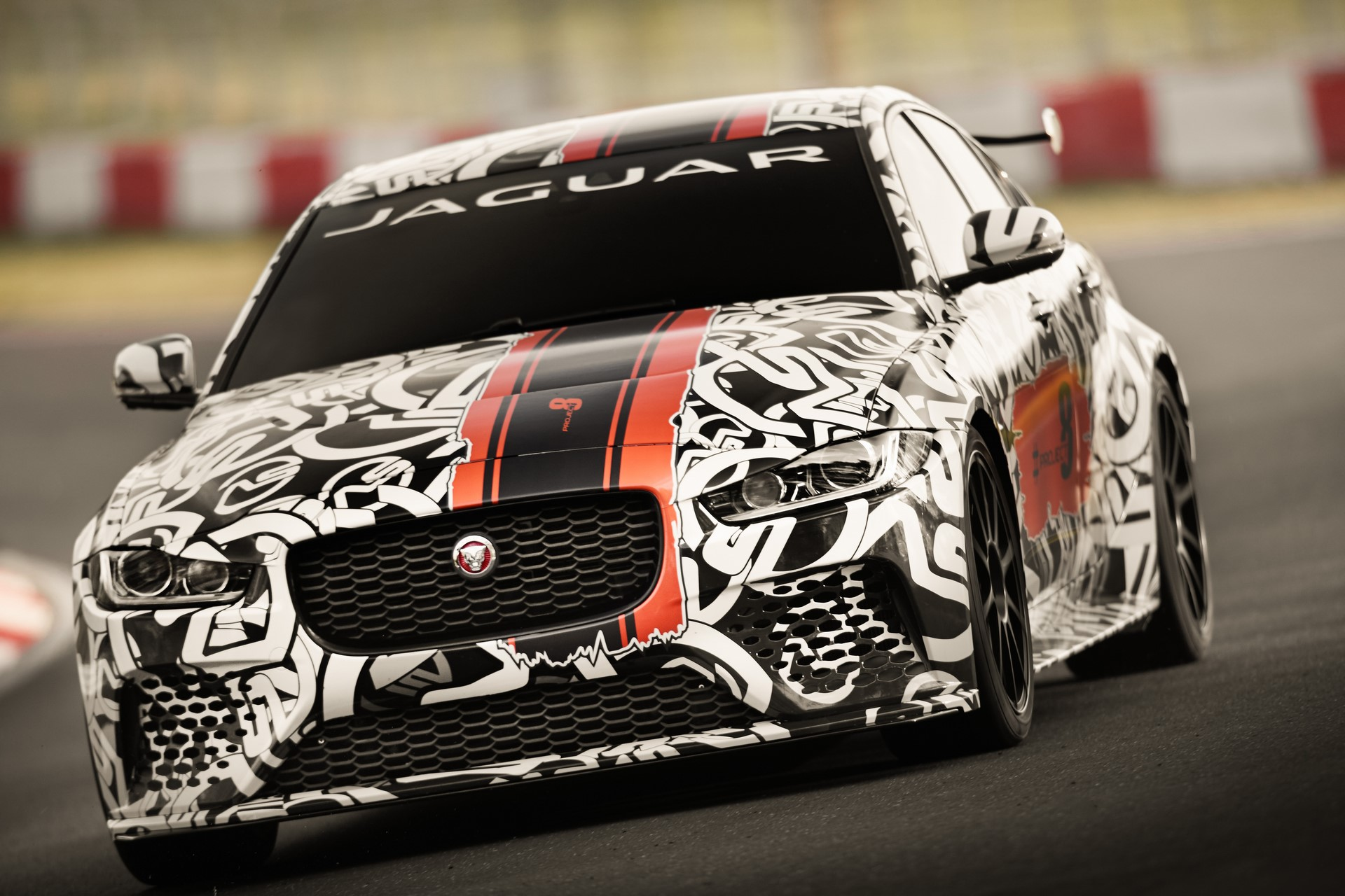 Jaguar XE SV Project 8 prototype testing Nurburgring World Copyright: Patrick Gosling / Beadyeye Ref:  XE_SV_Project8_NBR-0311.CR2