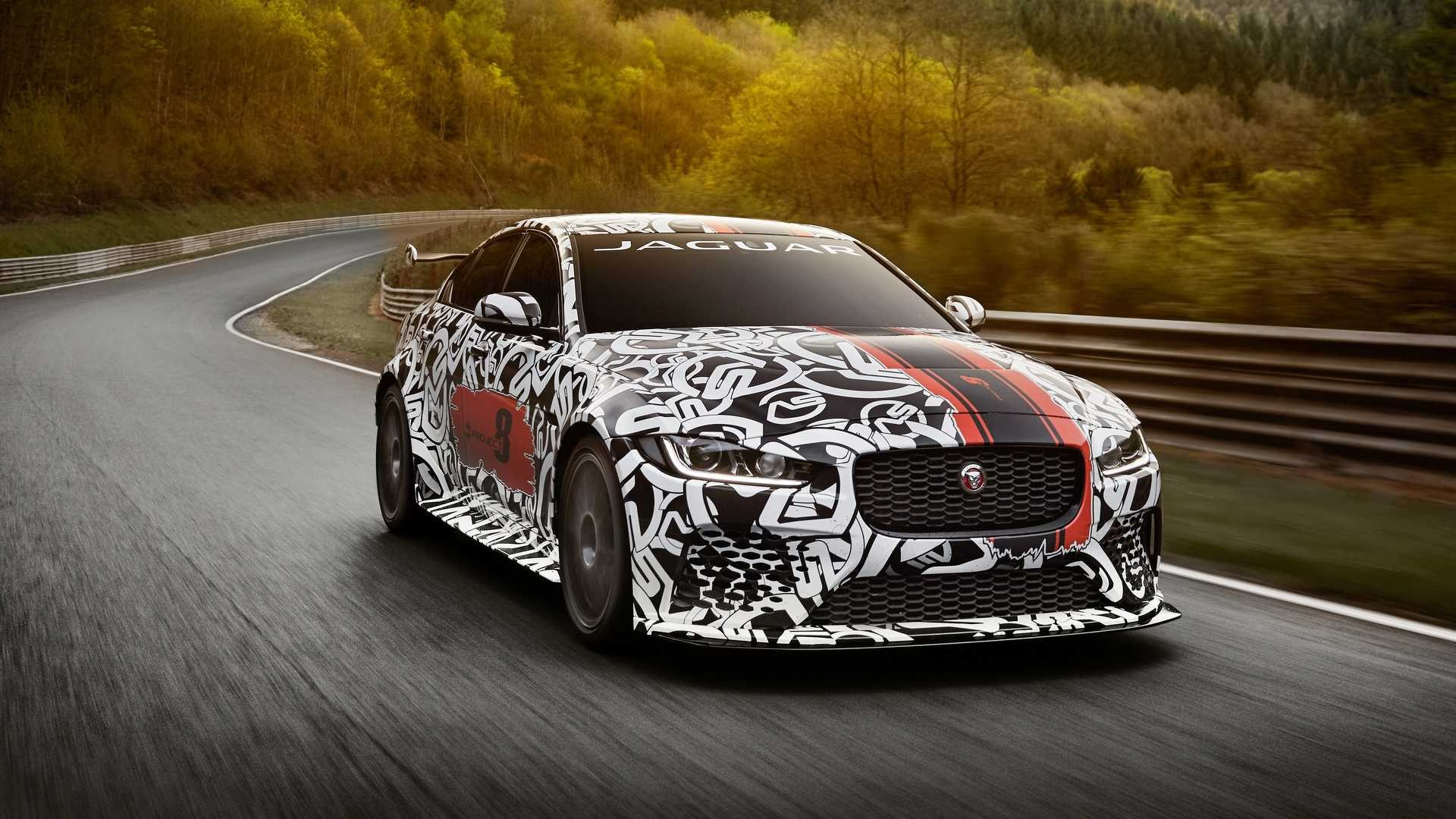 Jaguar XE SV Project 8 prototype testing Nurburgring World Copyright: Patrick Gosling / Beadyeye Ref:  XE_SV_Project8_NBR-1053.CR2