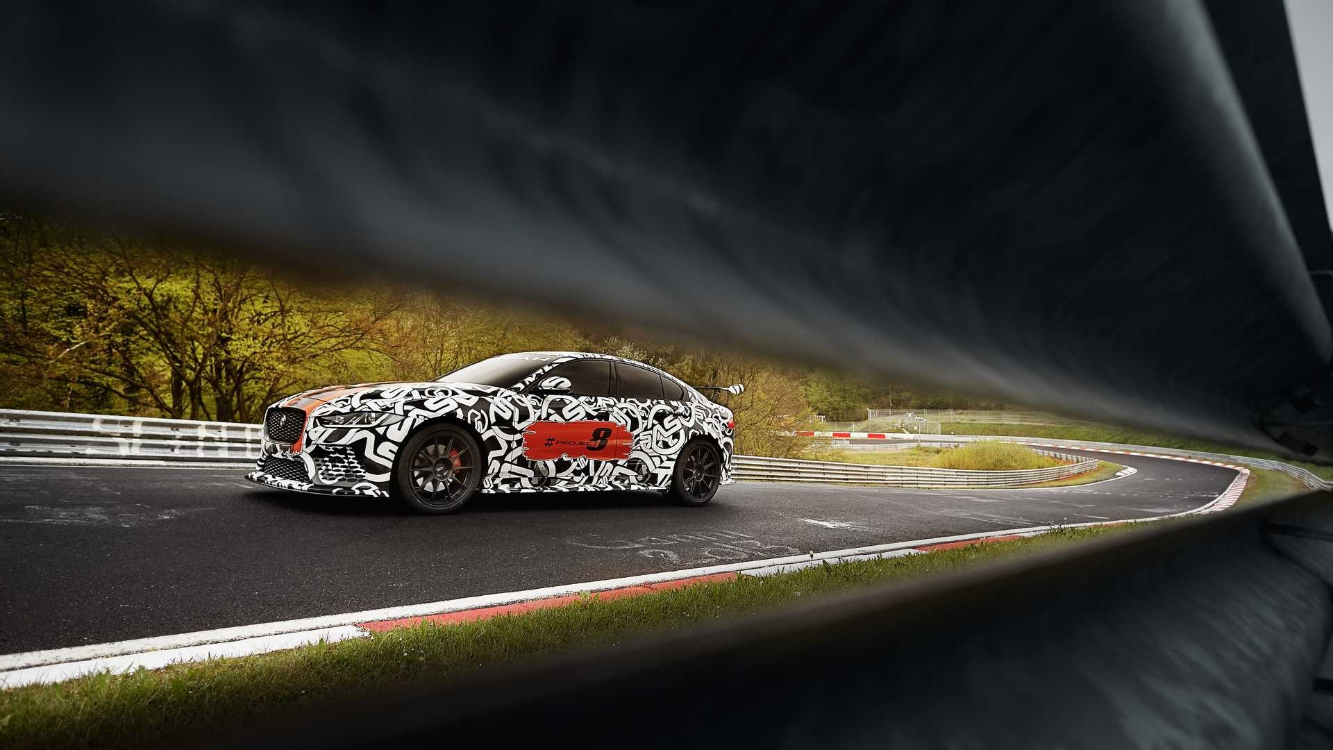 Jaguar XE SV Project 8 prototype testing Nurburgring World Copyright: Patrick Gosling / Beadyeye Ref:  XE_SV_Project8_NBR-0881.CR2
