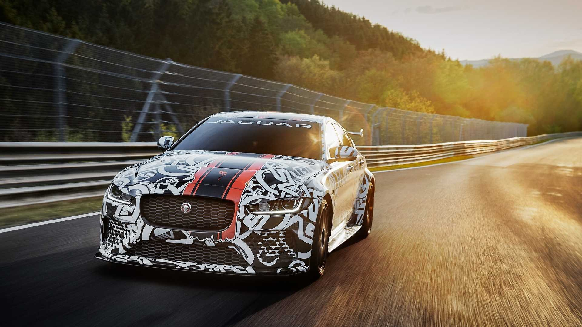 Jaguar XE SV Project 8 prototype testing Nurburgring World Copyright: Patrick Gosling / Beadyeye Ref:  XE_SV_Project8_NBR-1164.CR2