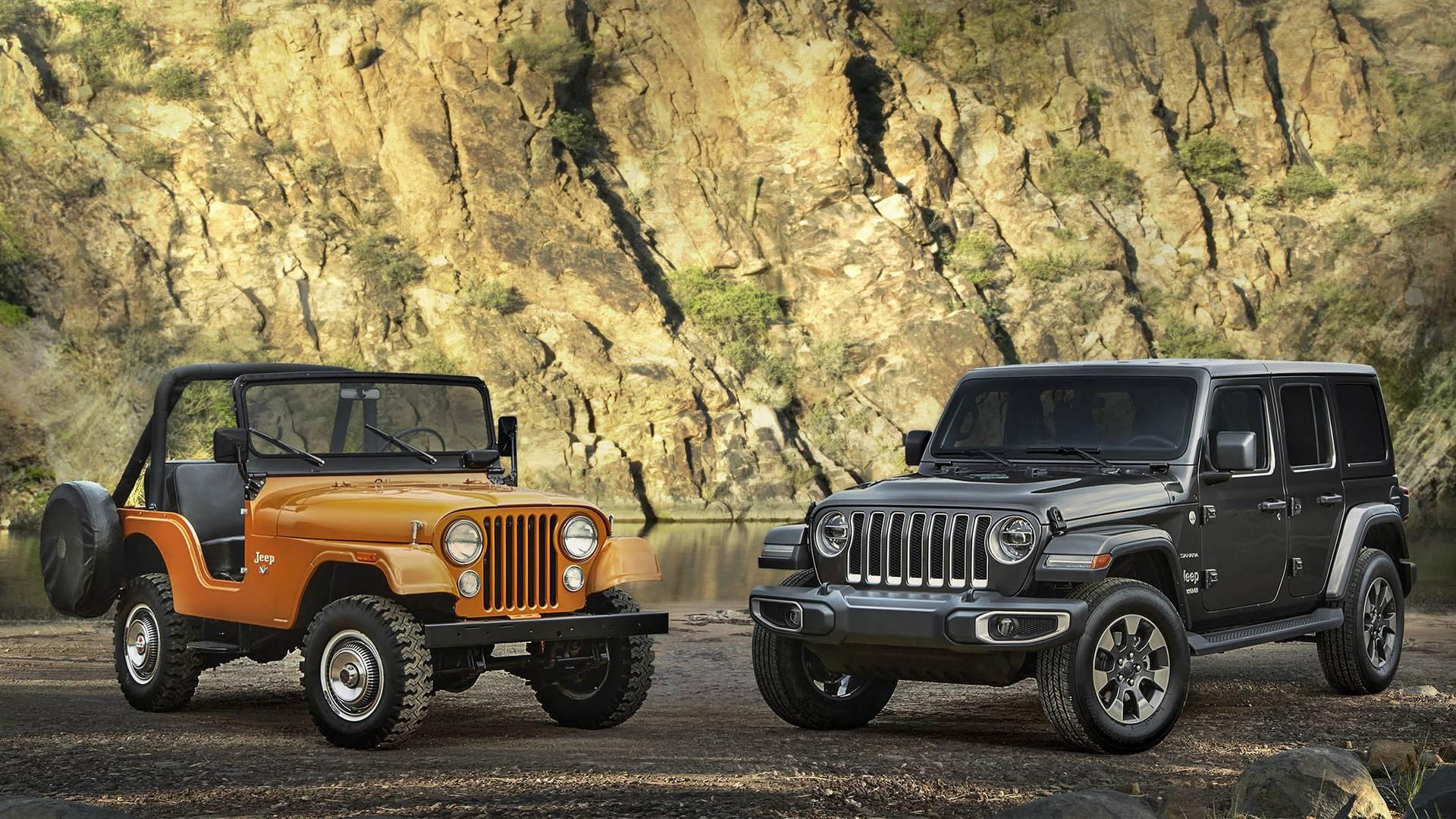 1973 Jeep® CJ-5 and all-new 2018 Jeep Wrangler Sahara