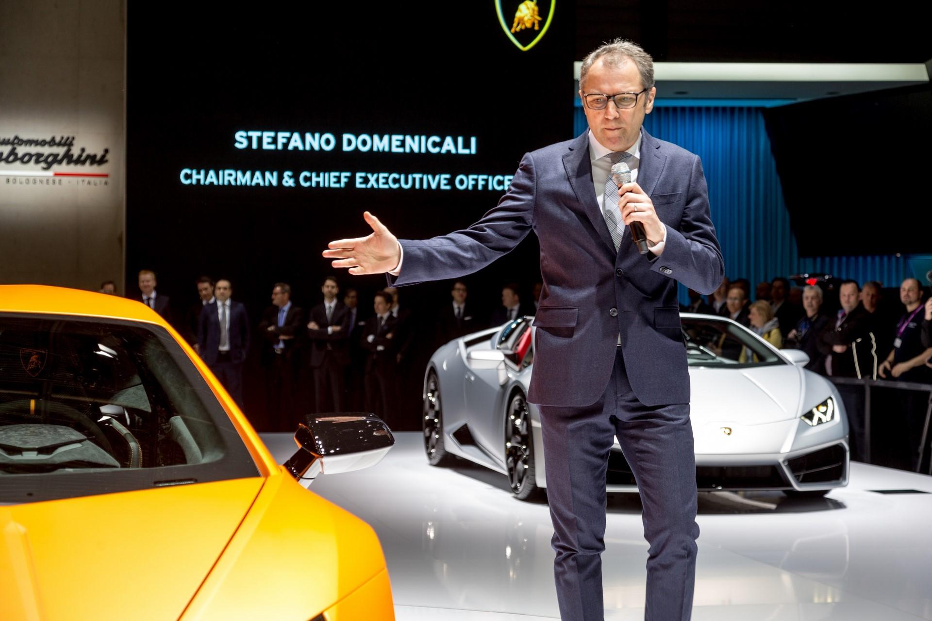 Stefano Domenicali Lamborghini Huracan Performante Geneva 2017