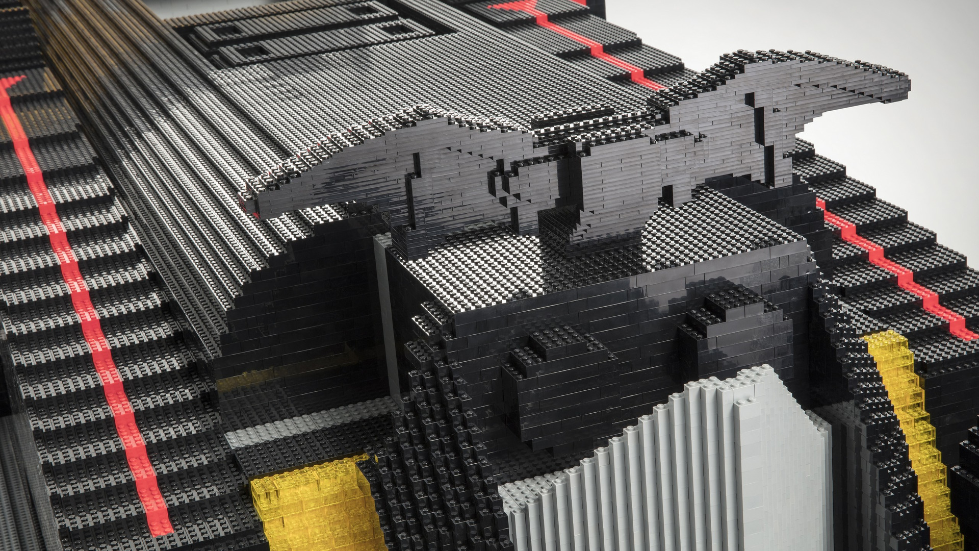 Built using more than 340,000 LEGO® bricks and measuring 17 fee