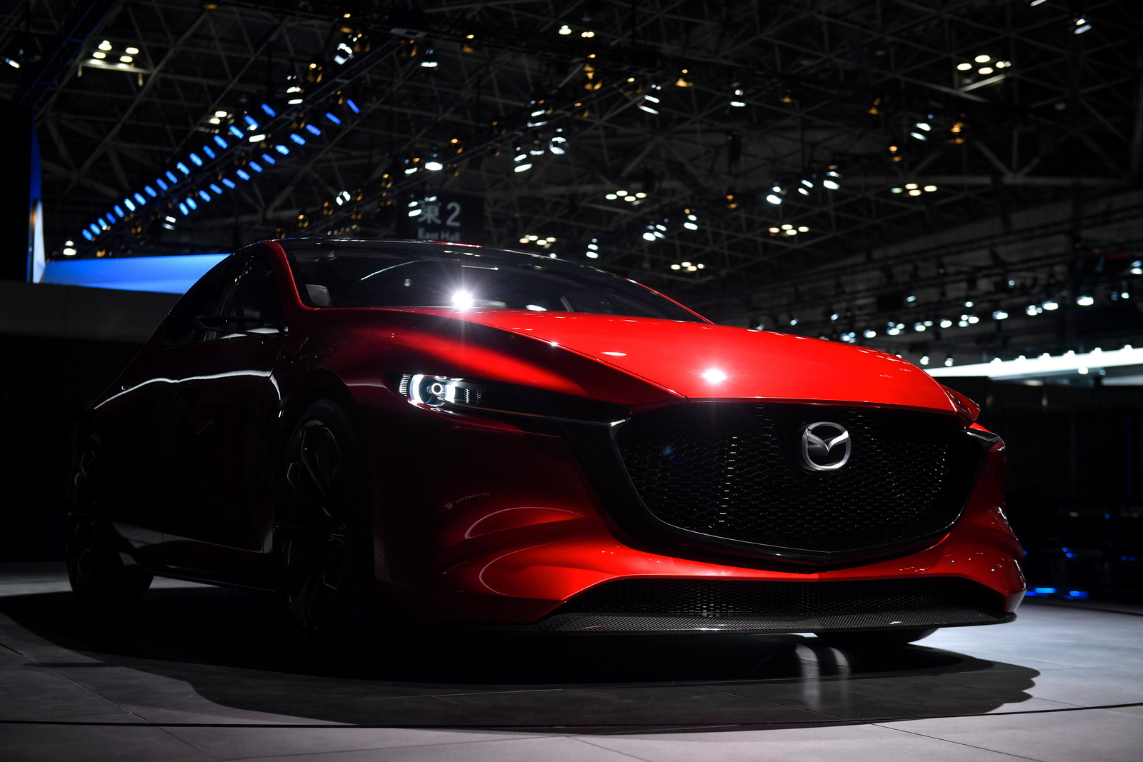 TOKYO, JAPAN - OCTOBER 25:  Mazda Kai Concept is displayed at the Mazda Motor Co booth during the Tokyo Motor Show at Tokyo Big Sight on October 25, 2017 in Tokyo, Japan.  (Photo by Koki Nagahama/Getty Images for Mazda Motor Co)