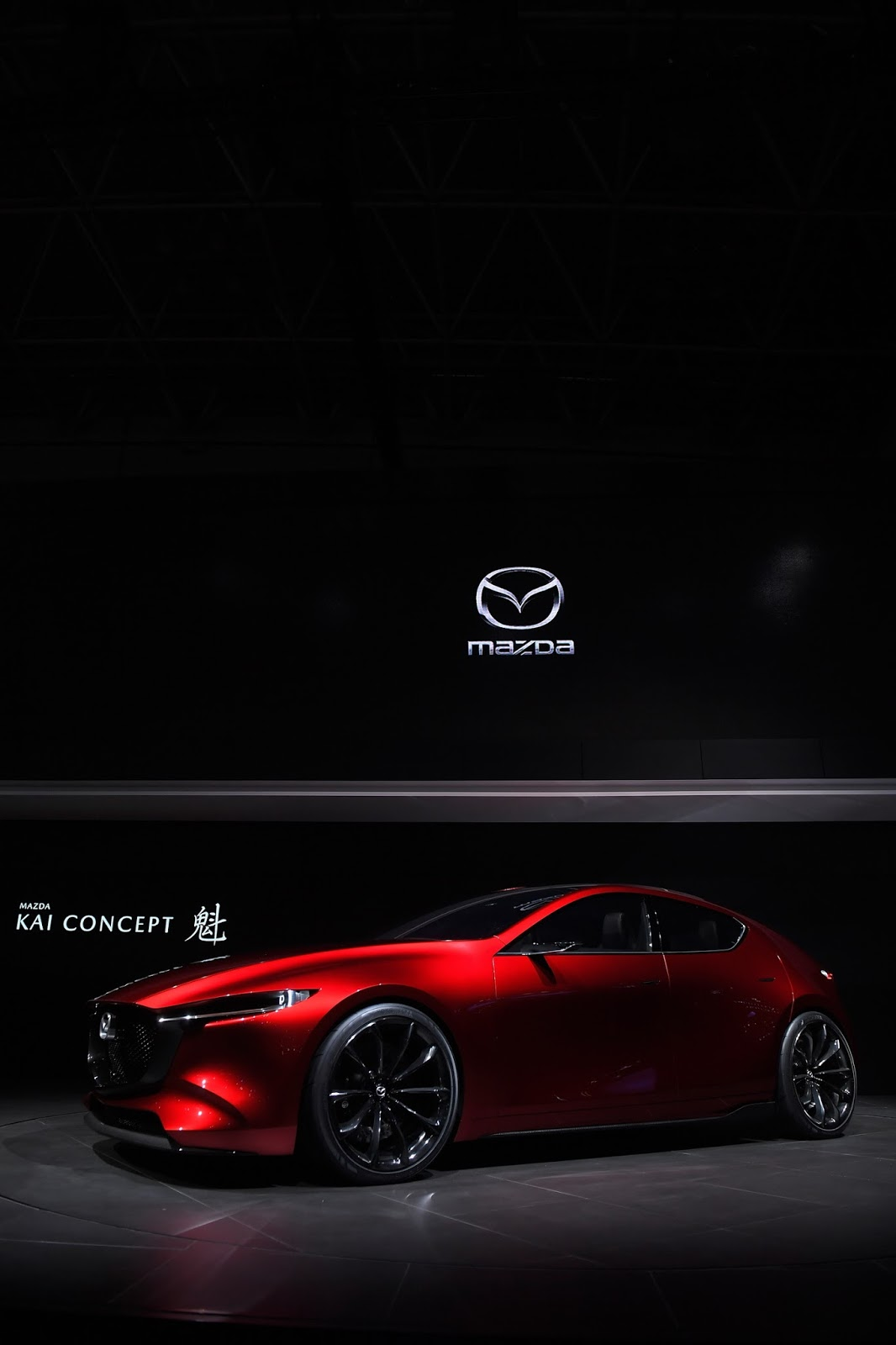 TOKYO, JAPAN - OCTOBER 25:  Mazda Kai Concept is unveiled at the Mazda Motor Co booth during the Tokyo Motor Show at Tokyo Big Sight on October 25, 2017 in Tokyo, Japan.  (Photo by Koki Nagahama/Getty Images for Mazda Motor Co)