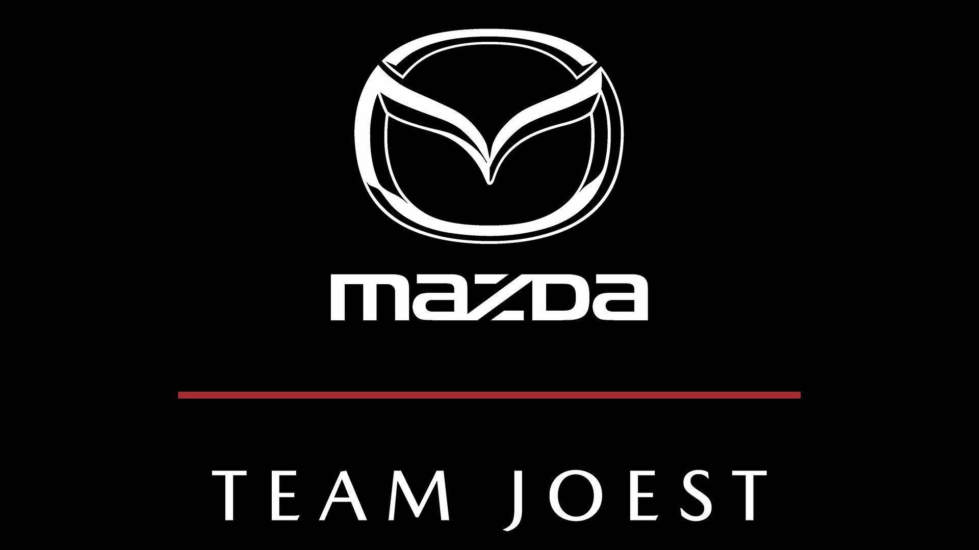 20171107 Mazda Team Joest Logo - Vertical on Dark BG V3
