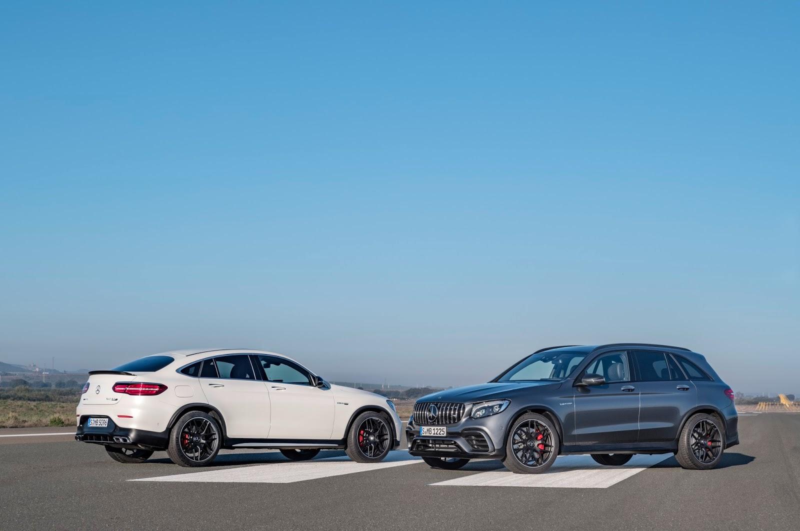 Mercedes-AMG GLC 63 S 4MATIC+ Coupé, designo diamantweiß bright; Mercedes-AMG GLC 63 S 4MATIC+, 2017 ;Kraftstoffverbrauch kombiniert: 10,7  l/100 km; CO2-Emissionen kombiniert: 244  g/kmMercedes-AMG GLC 63 S 4MATIC+ Coupé, designo diamond white bright ; Mercedes-AMG GLC 63 S 4MATIC+, 2017; Fuel consumption combined: 10.7 l/100 km; combined CO2 emissions: 244 g/km