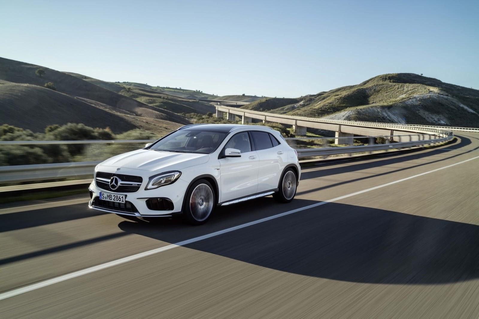 Mercedes GLA facelift and GLA 45 AMG facelift 2017 (1)