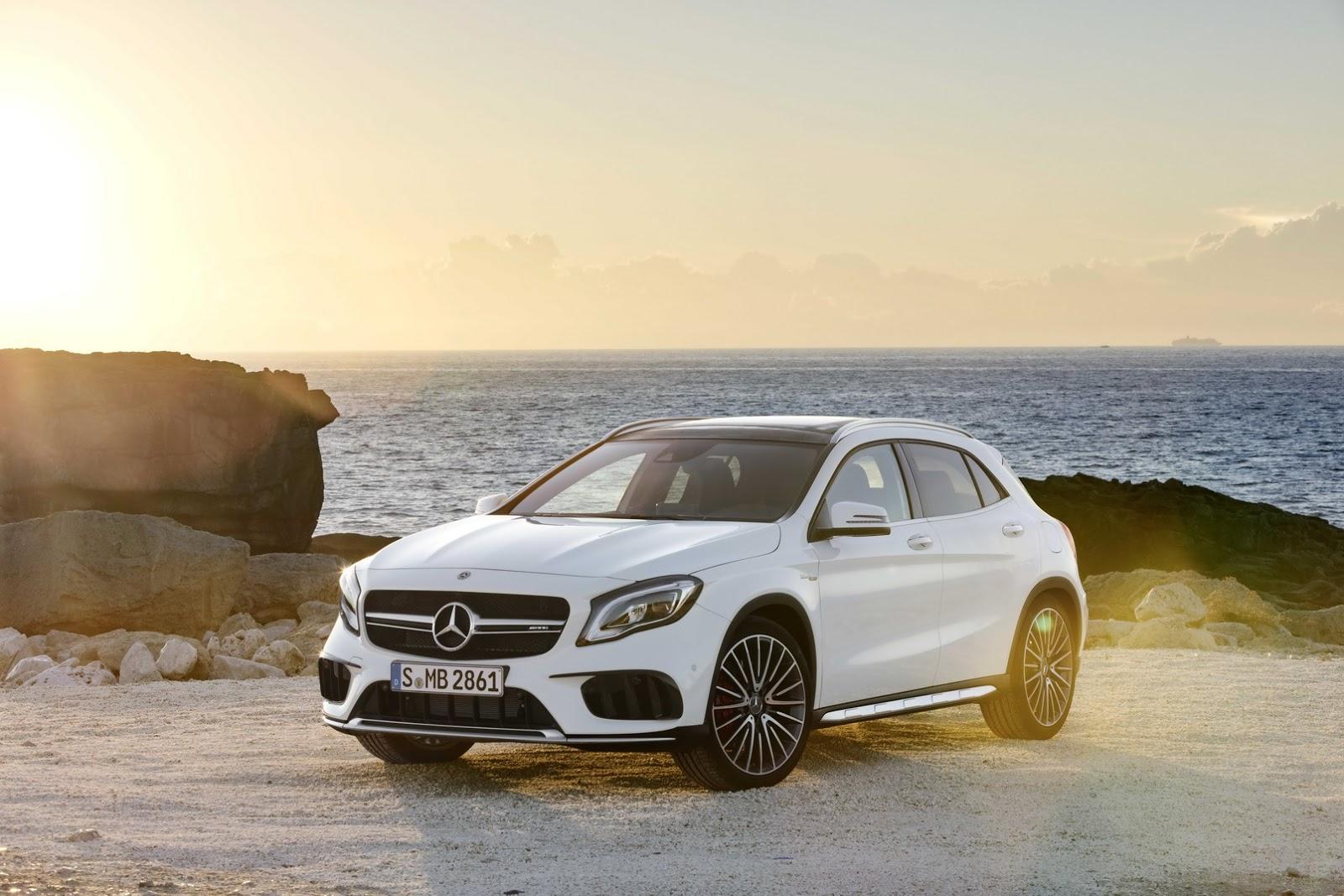 Mercedes GLA facelift and GLA 45 AMG facelift 2017 (11)