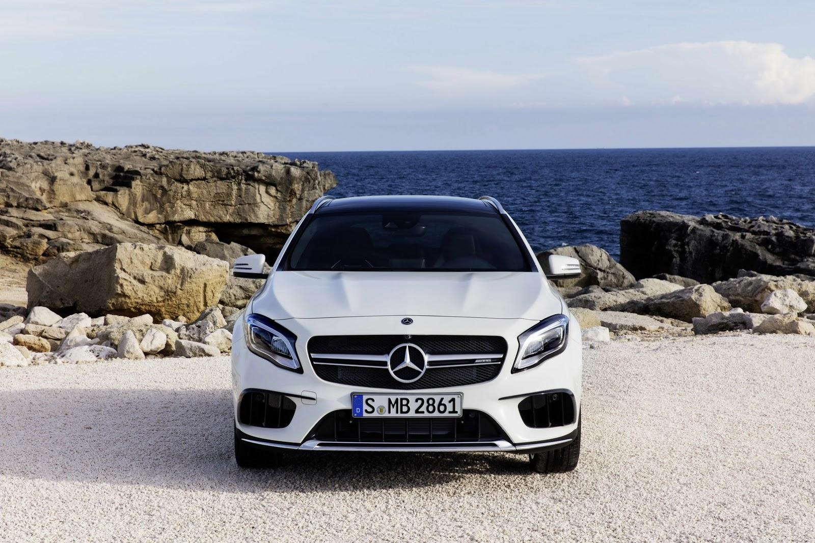 Mercedes GLA facelift and GLA 45 AMG facelift 2017 (14)