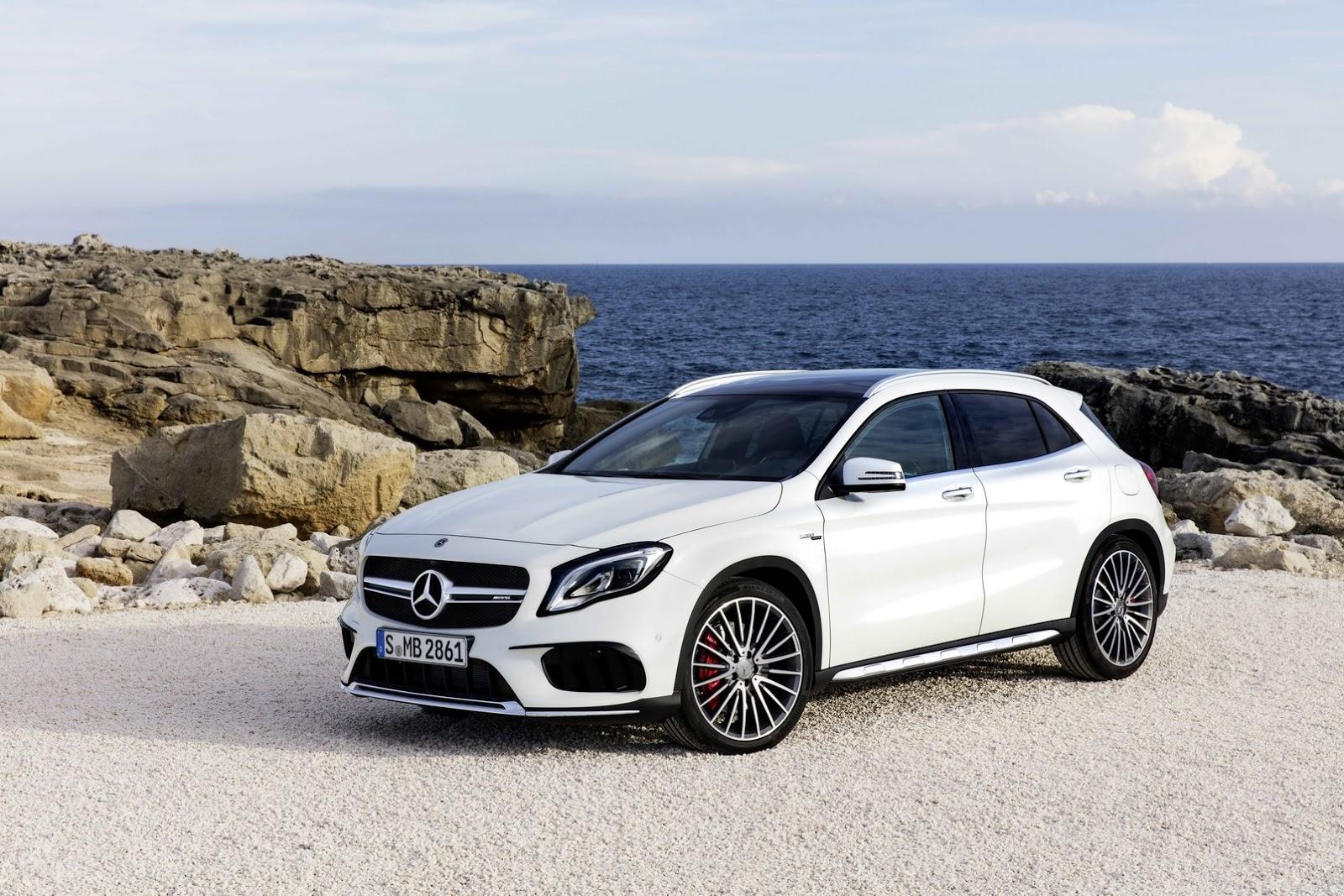 Mercedes GLA facelift and GLA 45 AMG facelift 2017 (15)