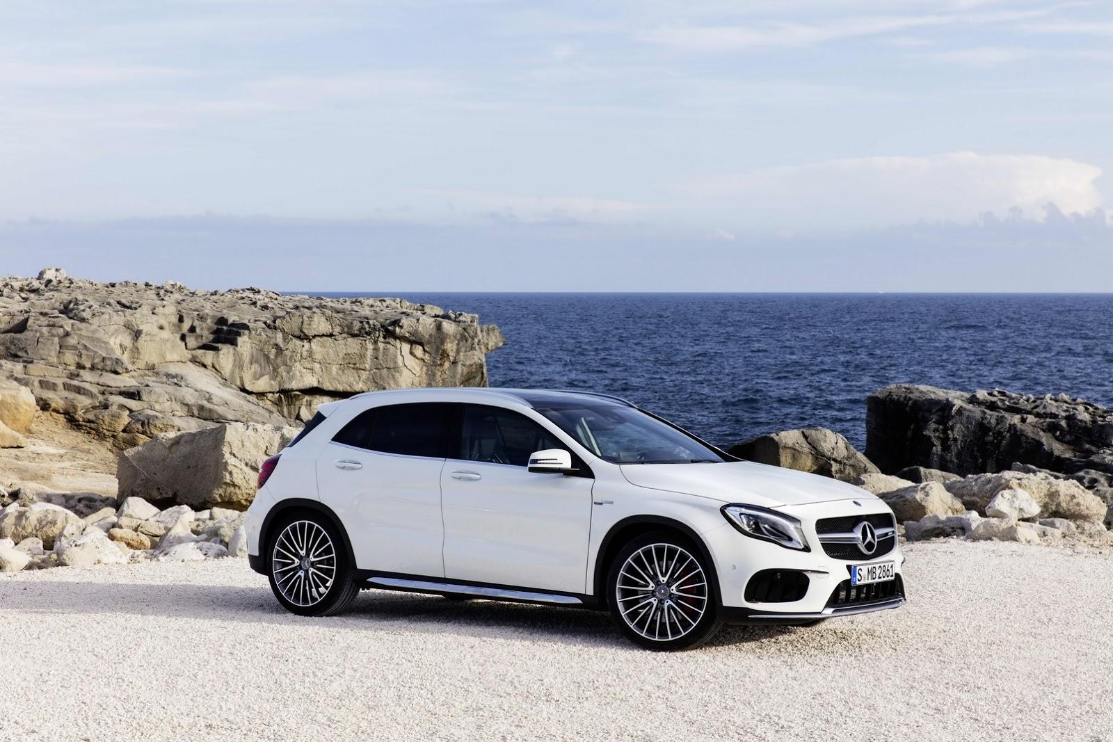 Mercedes GLA facelift and GLA 45 AMG facelift 2017 (16)