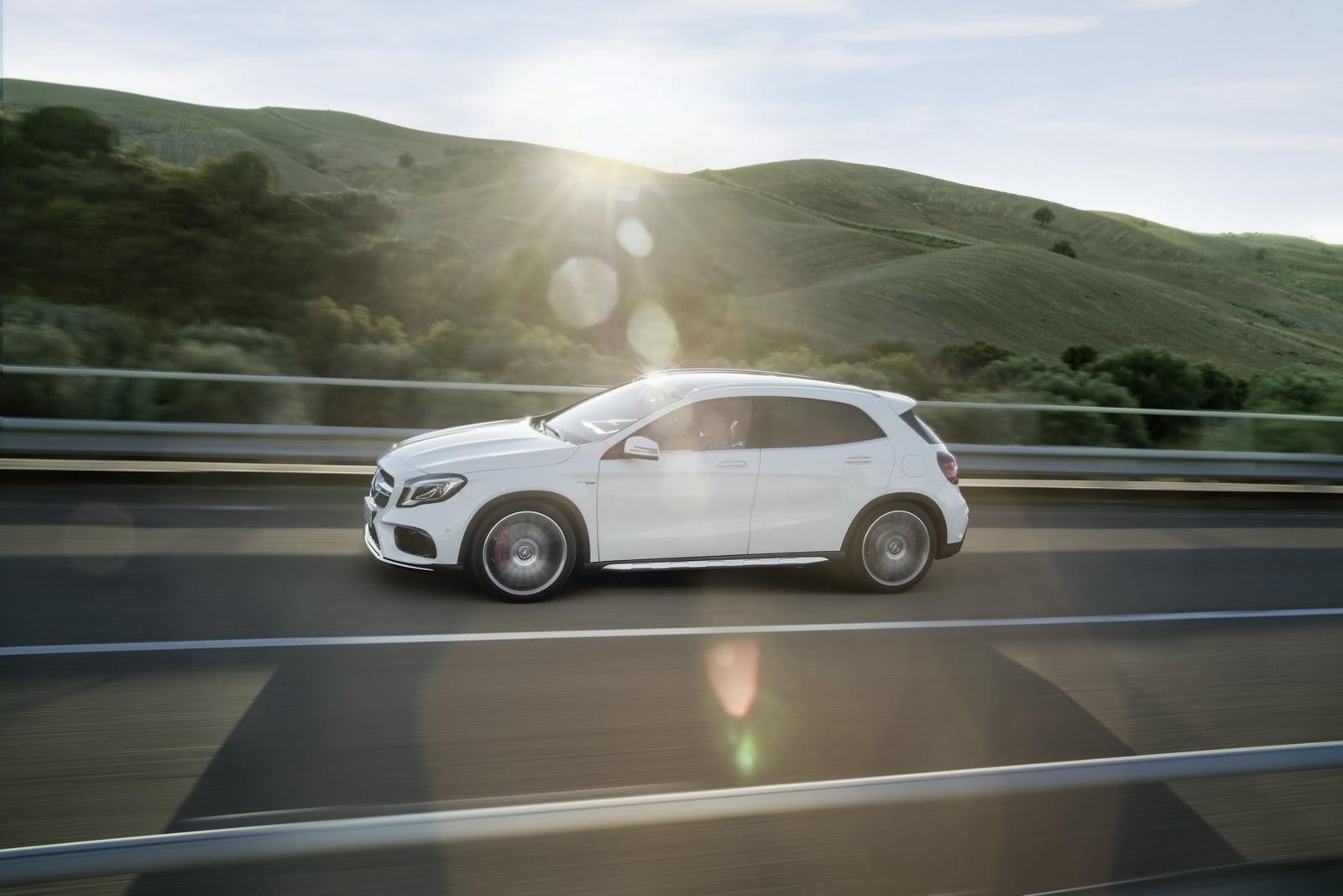 Mercedes GLA facelift and GLA 45 AMG facelift 2017 (2)
