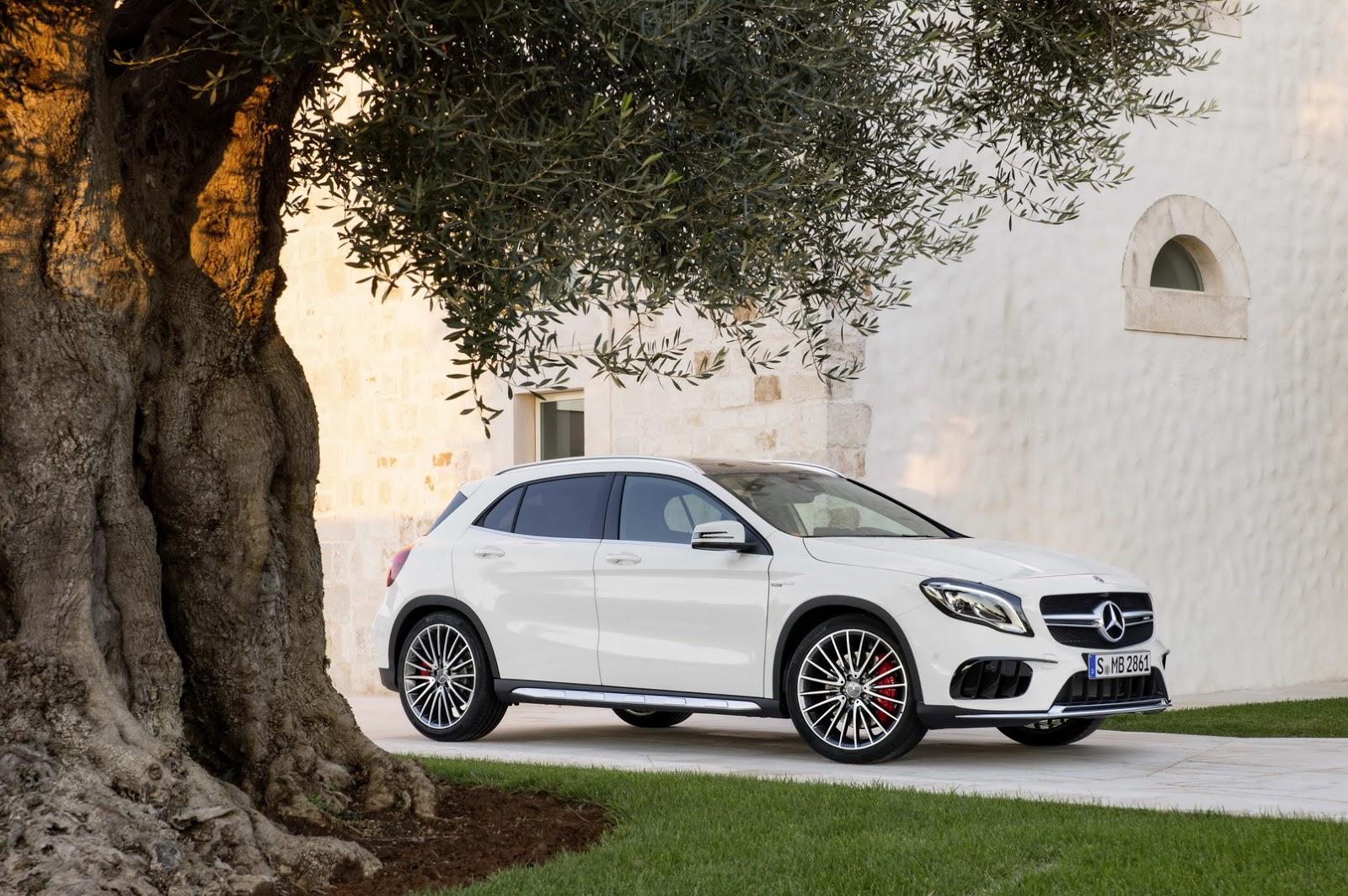 Mercedes GLA facelift and GLA 45 AMG facelift 2017 (21)