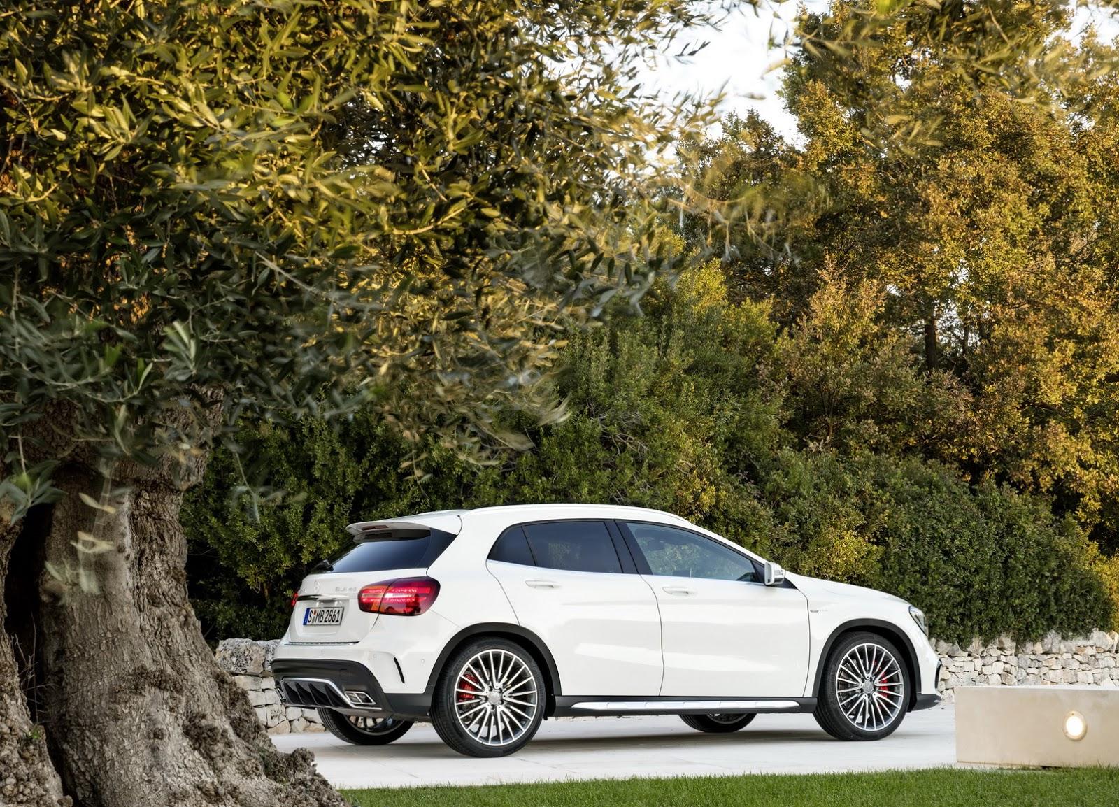 Mercedes GLA facelift and GLA 45 AMG facelift 2017 (22)