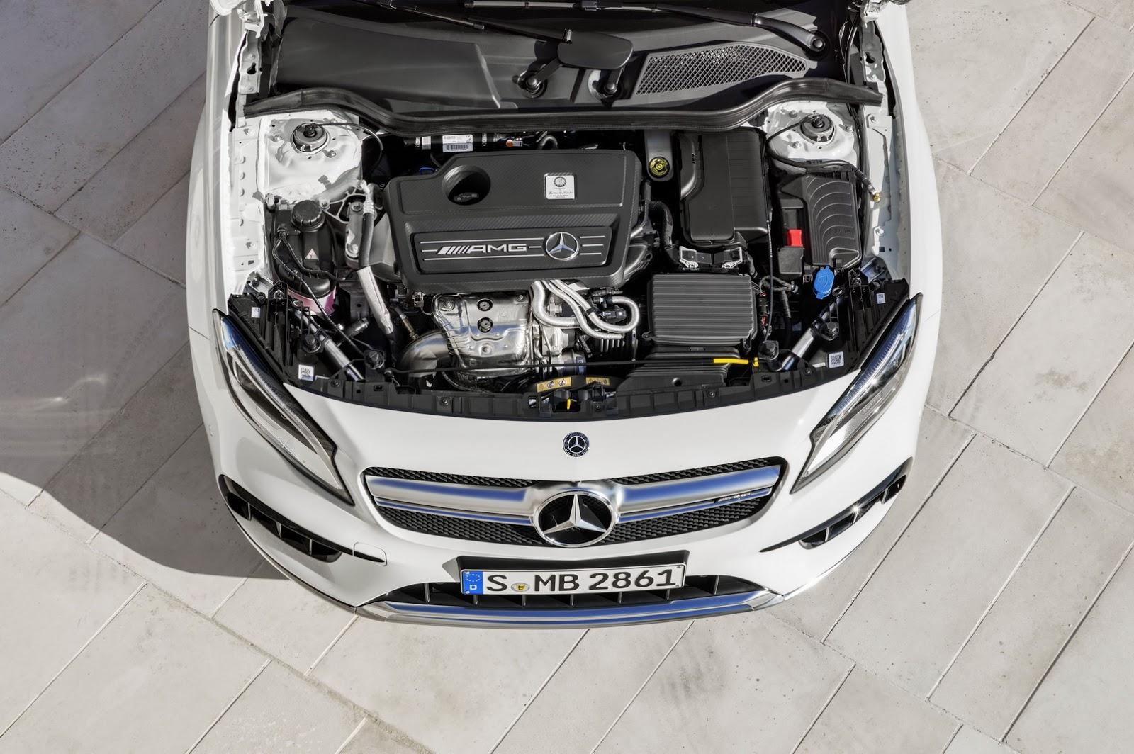 Mercedes GLA facelift and GLA 45 AMG facelift 2017 (23)