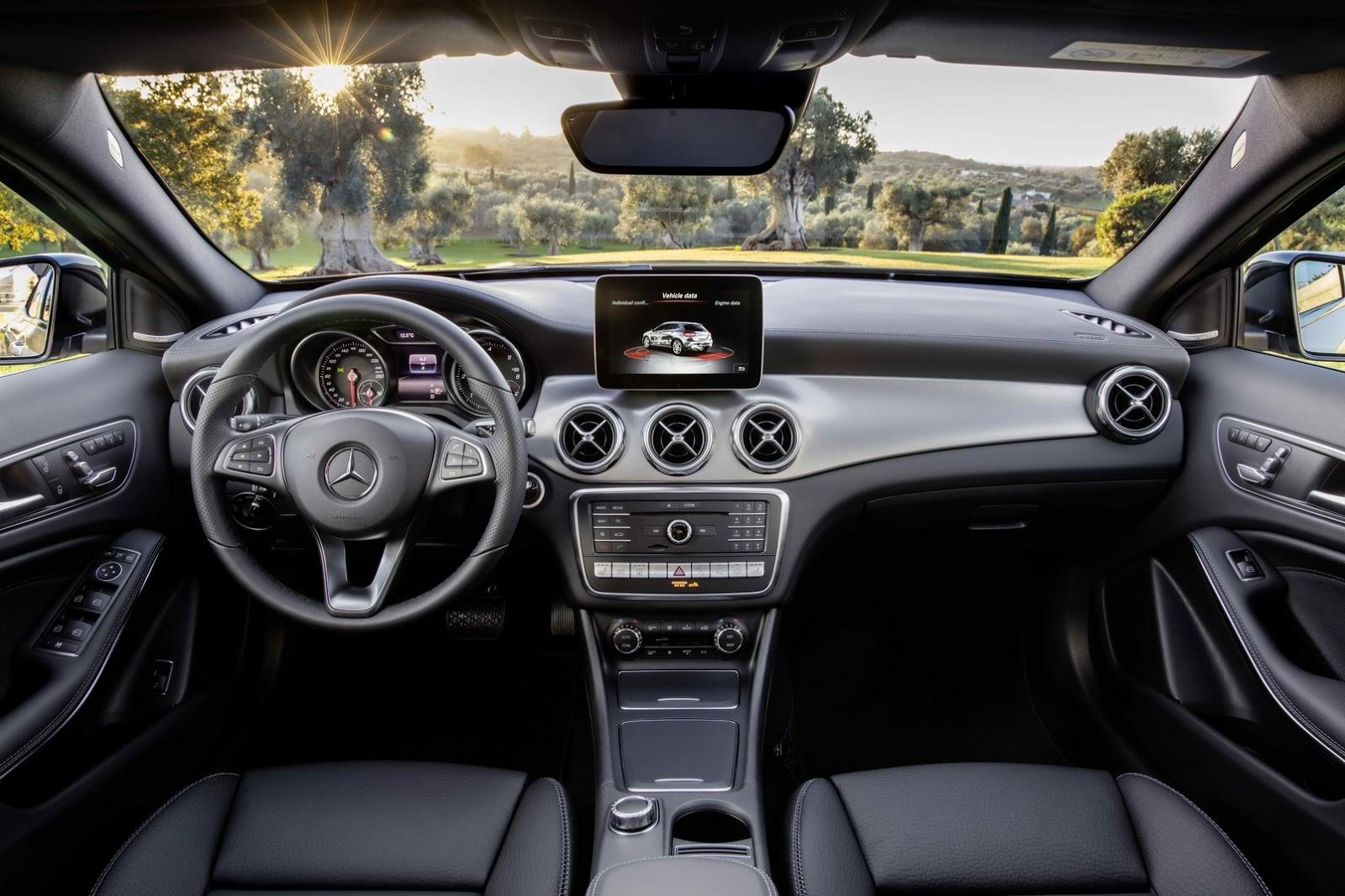 Mercedes GLA facelift and GLA 45 AMG facelift 2017 (25)