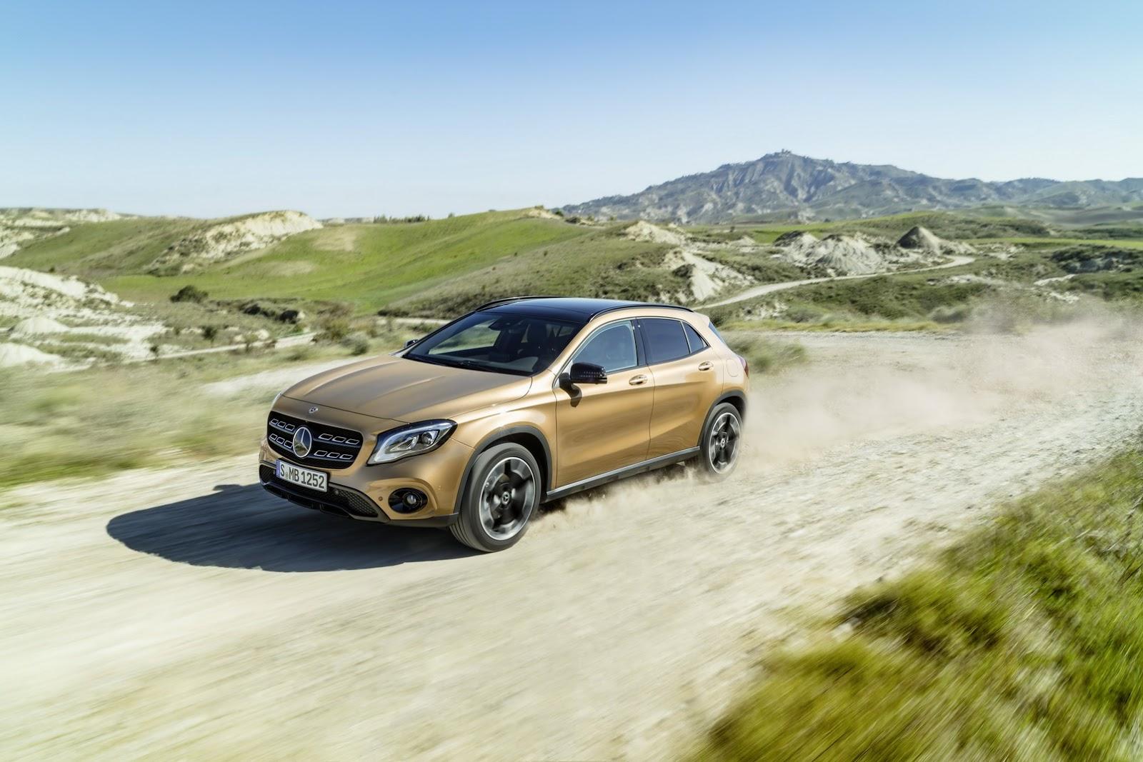 Mercedes GLA facelift and GLA 45 AMG facelift 2017 (26)